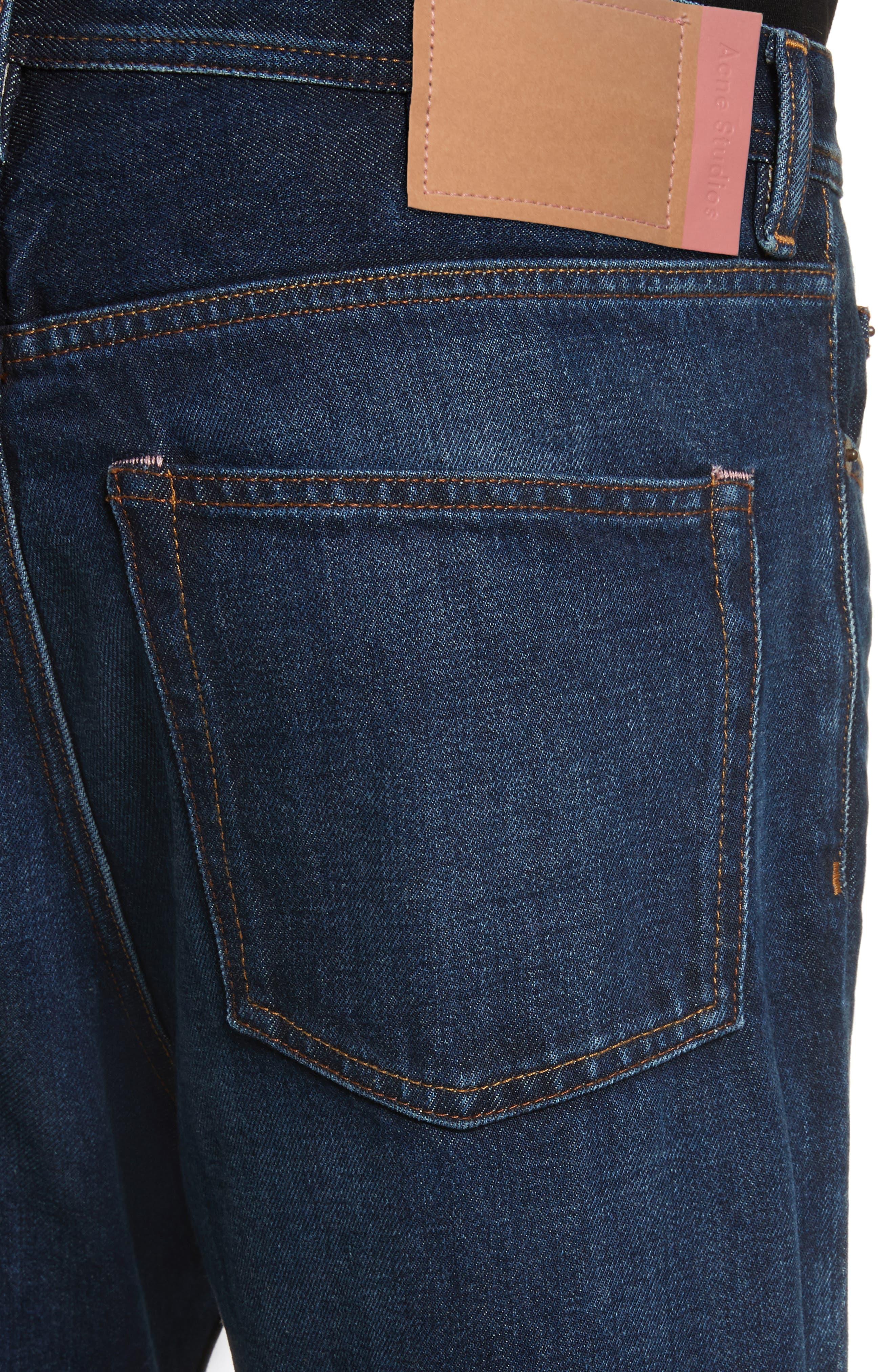 Land Classic Straight Leg Jeans,                             Alternate thumbnail 4, color,                             123 Dk Blue