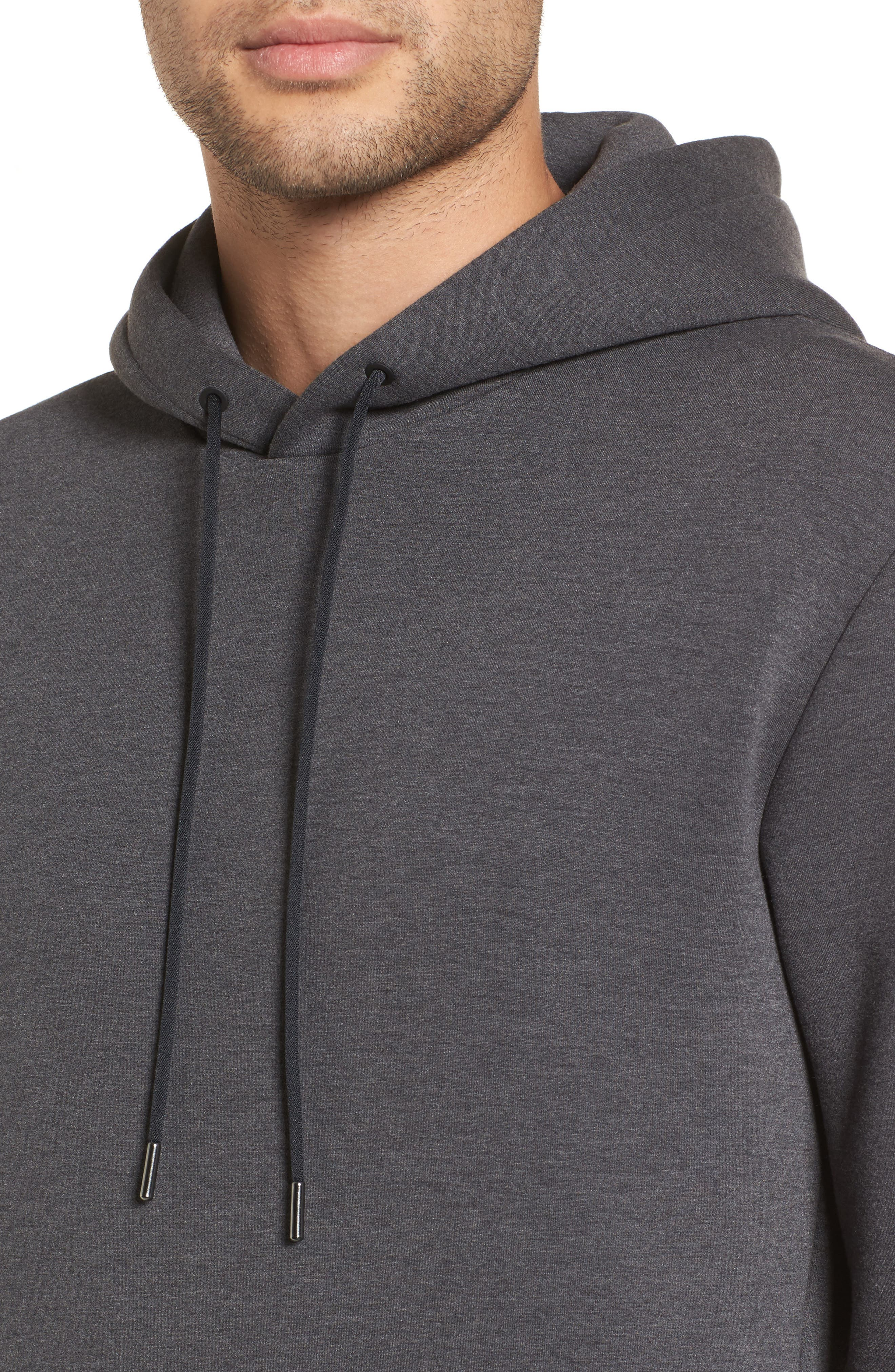 Scuba Pullover Hoodie,                             Alternate thumbnail 4, color,                             Charcoal Heather