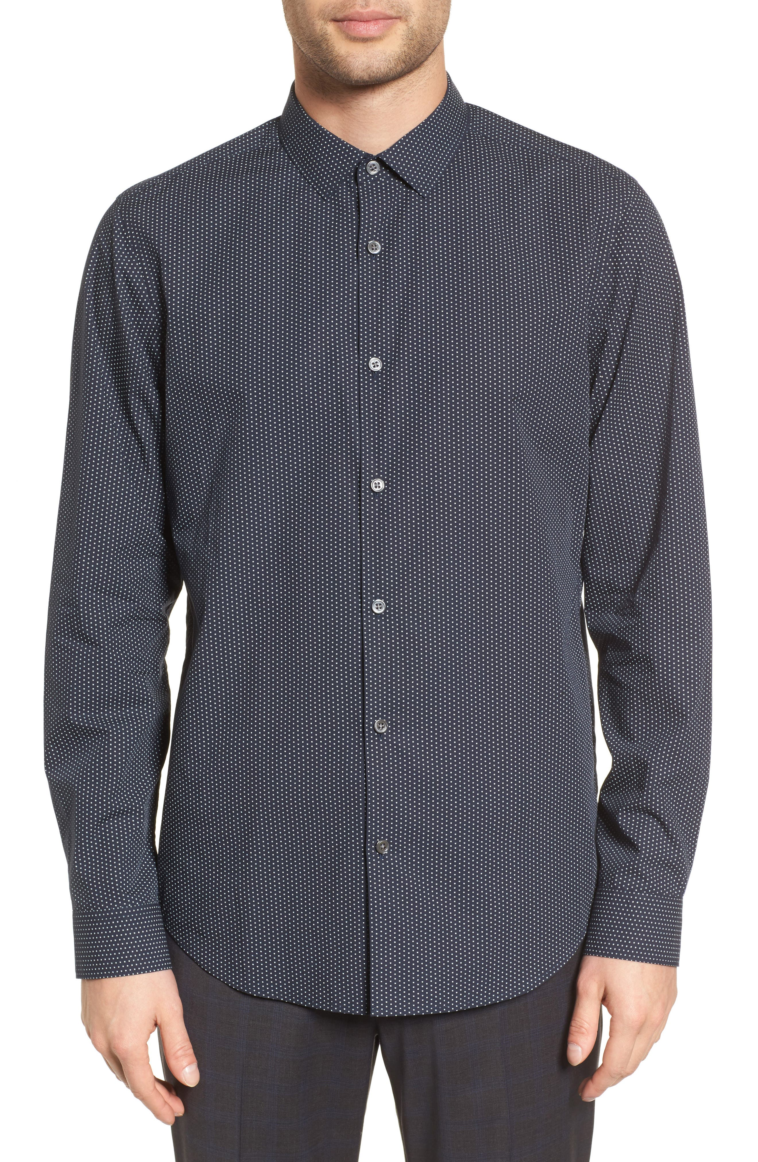 Murray Slim Fit Sport Shirt,                         Main,                         color, Eclipse