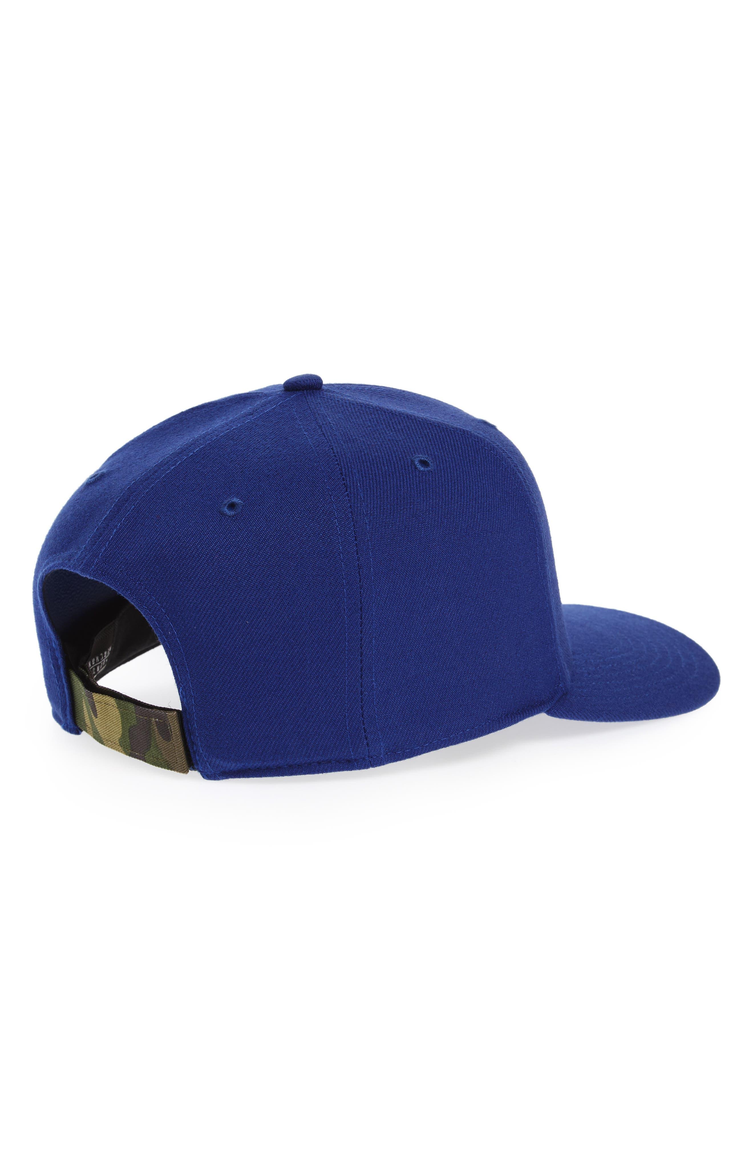 Los Angeles Dodgers - Camouflage Baseball Cap,                             Alternate thumbnail 2, color,                             Royal