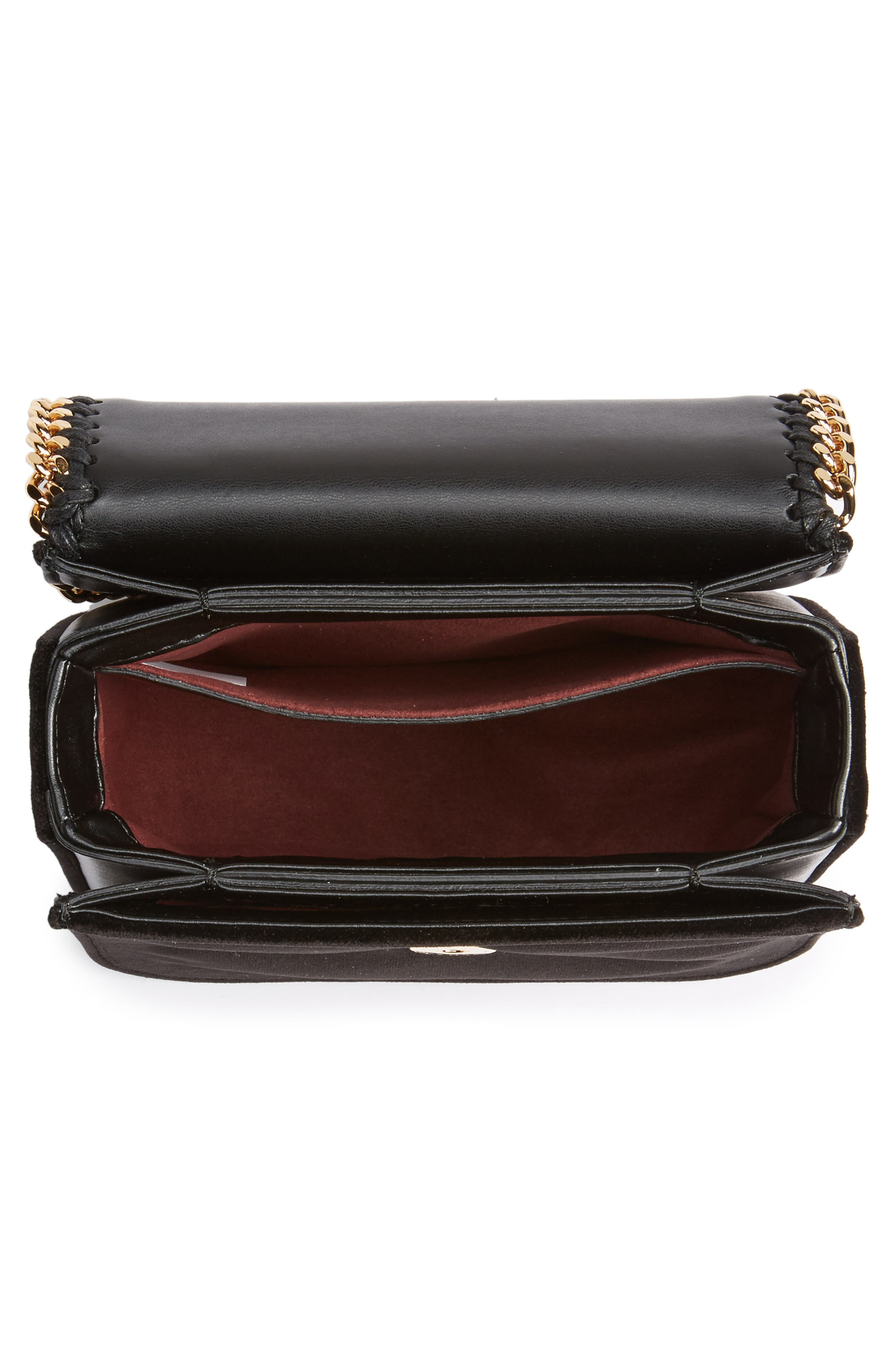 Alternate Image 5  - Stella McCartney Mini Falabella Box Velvet Shoulder Bag