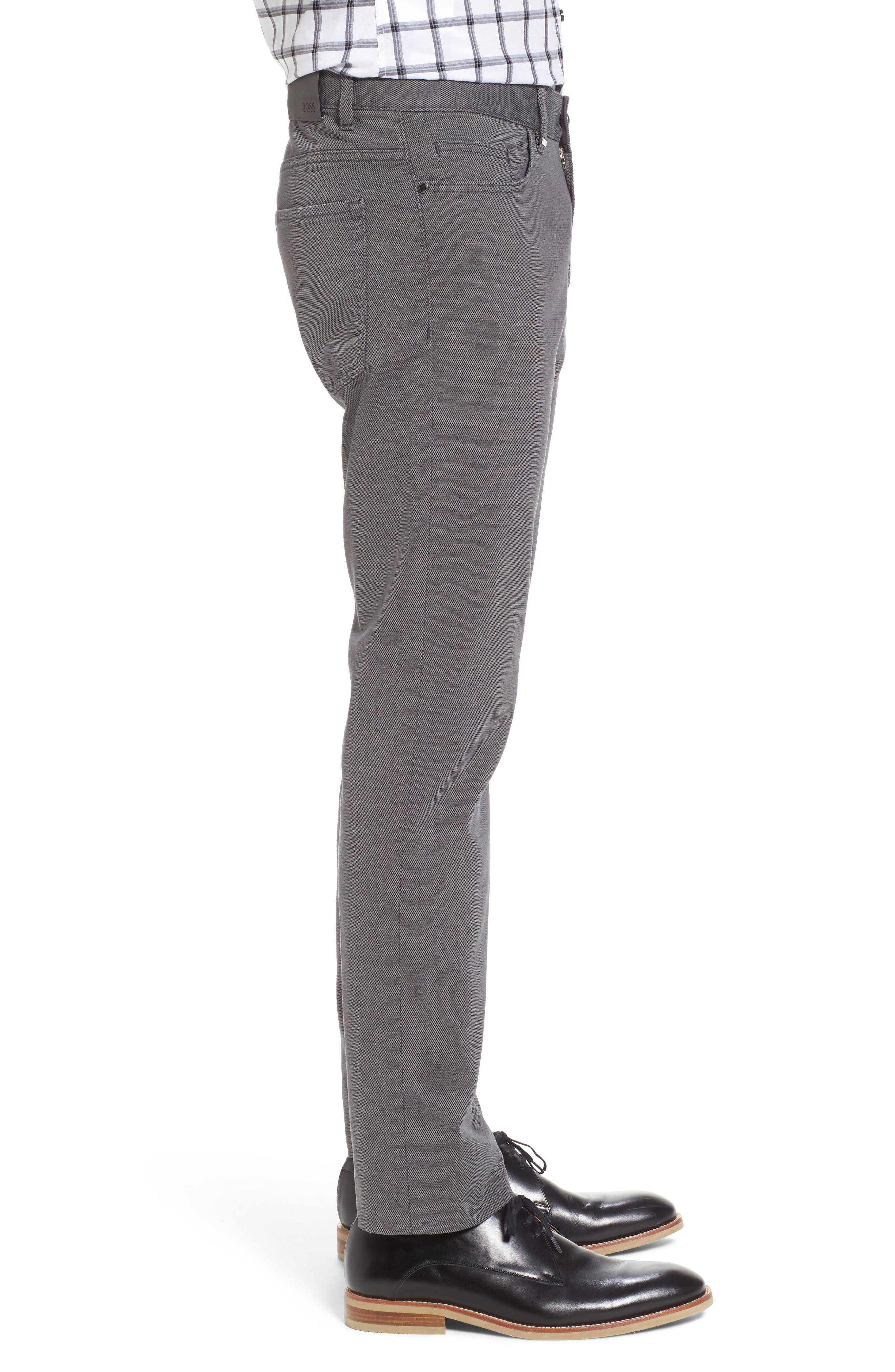Delaware Slim Fit Structure Jeans,                             Alternate thumbnail 5, color,                             Grey