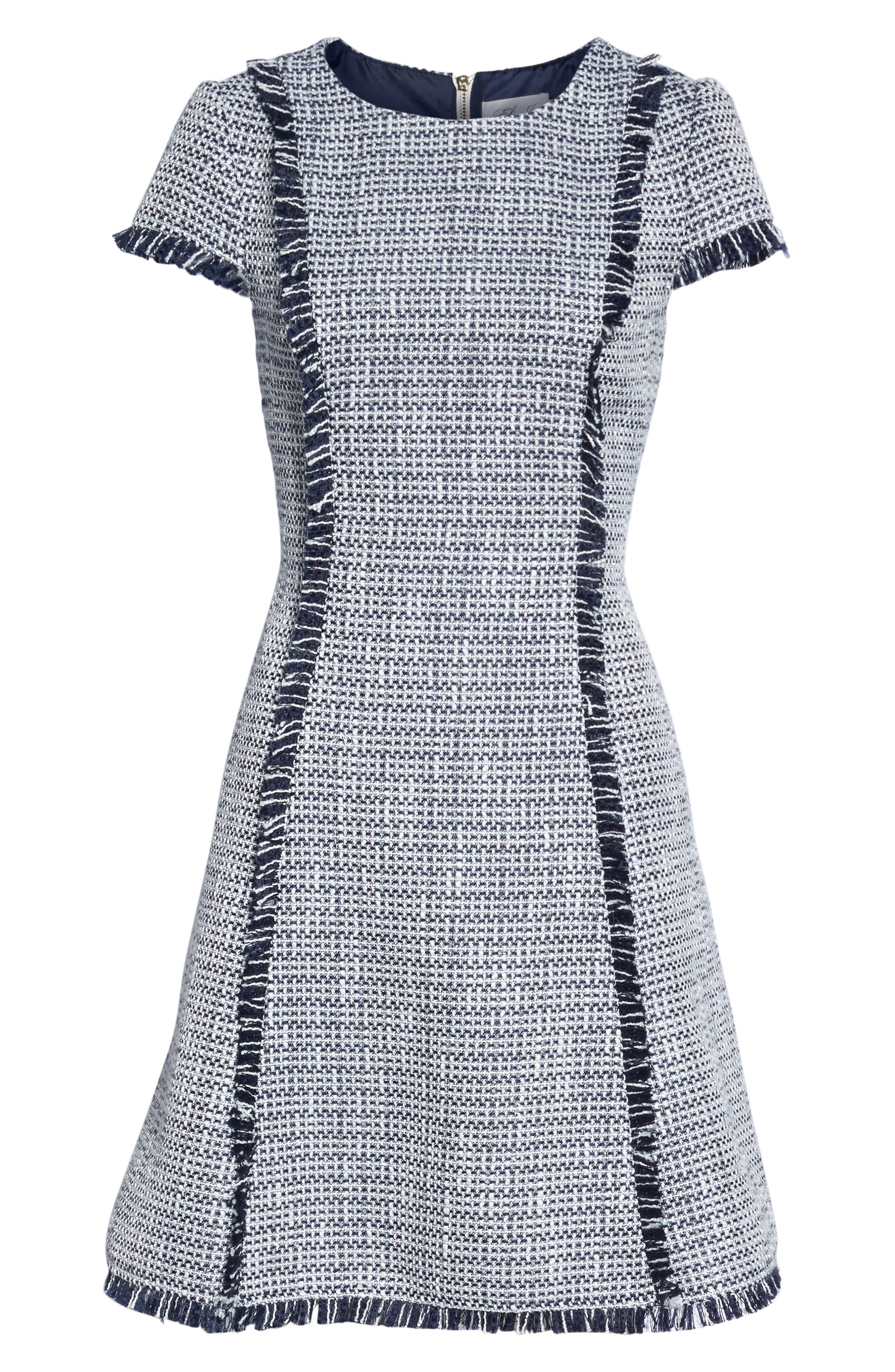 Alternate Image 6  - Eliza J Tweed Fit & Flare Dress