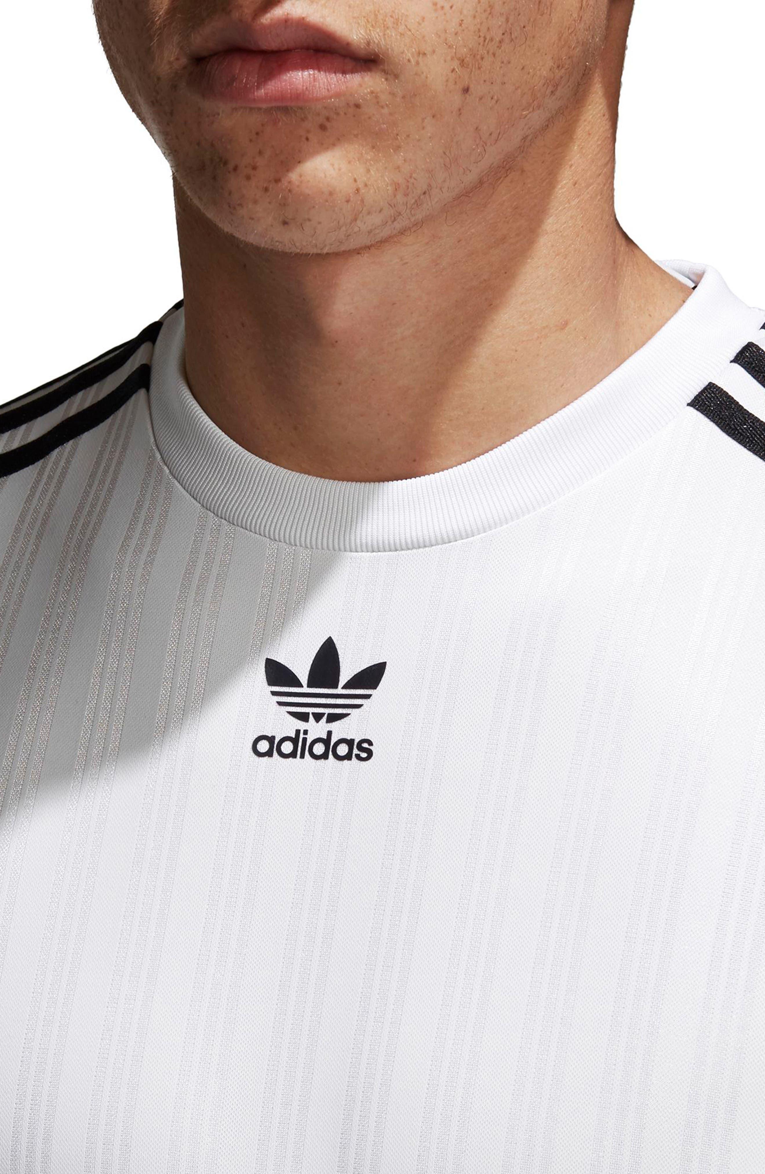 Long Sleeve Jersey Shirt,                             Alternate thumbnail 4, color,                             White