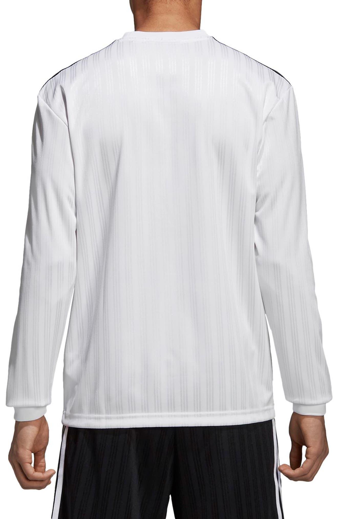 Long Sleeve Jersey Shirt,                             Alternate thumbnail 2, color,                             White