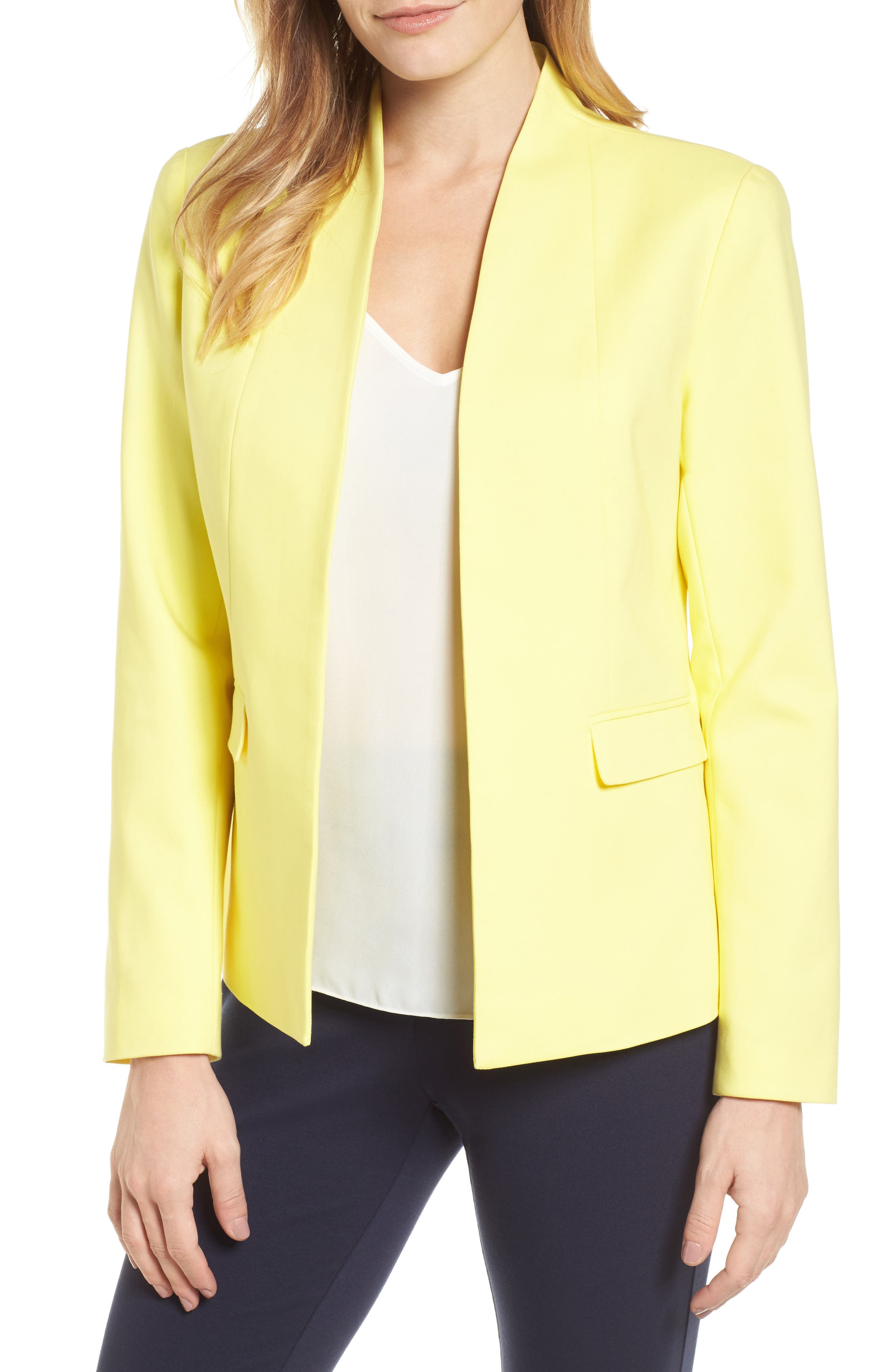 Stand Collar Jacket,                         Main,                         color, 784-Vivid Canary