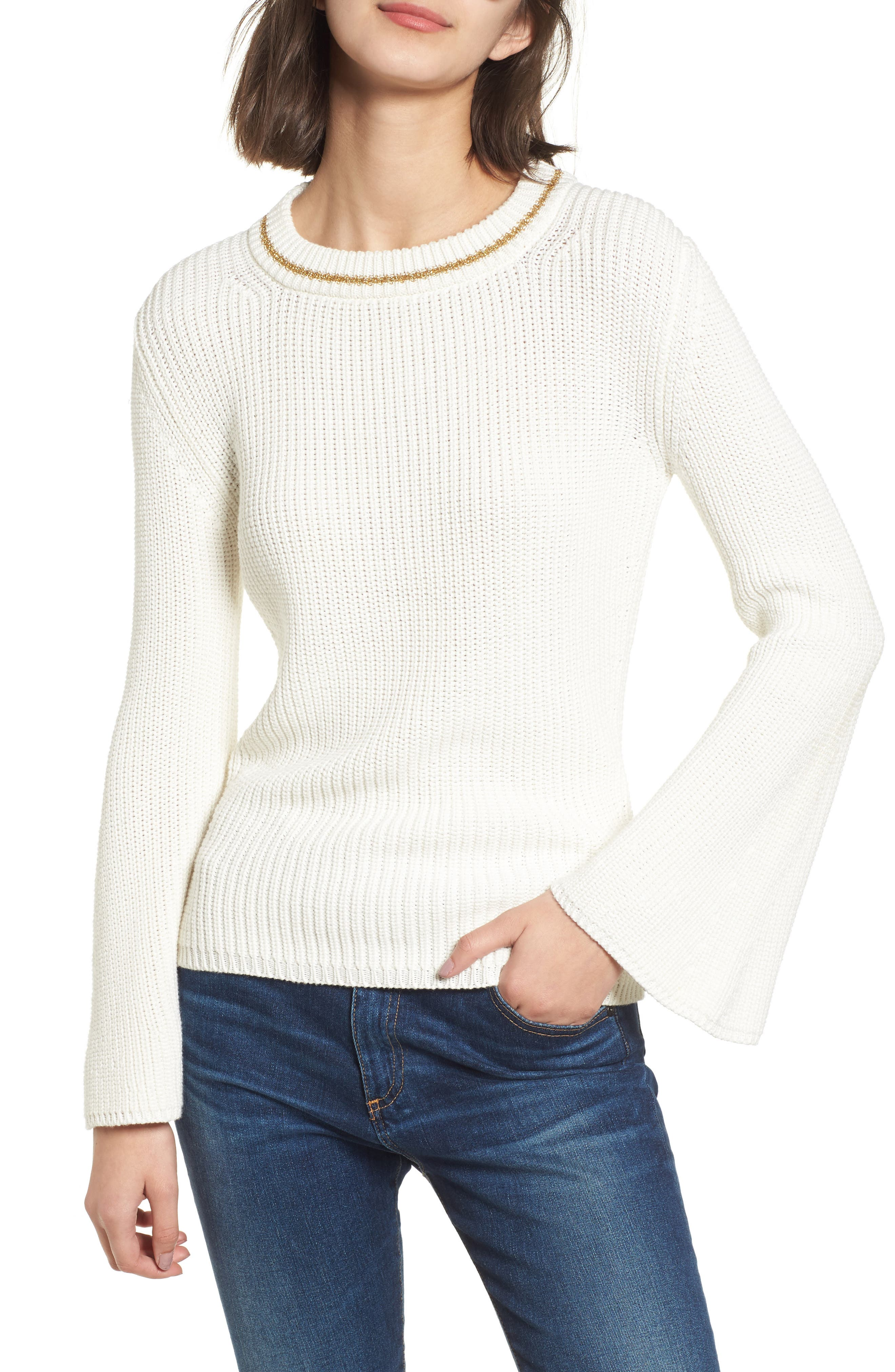 Coco Sweater,                             Main thumbnail 1, color,                             White