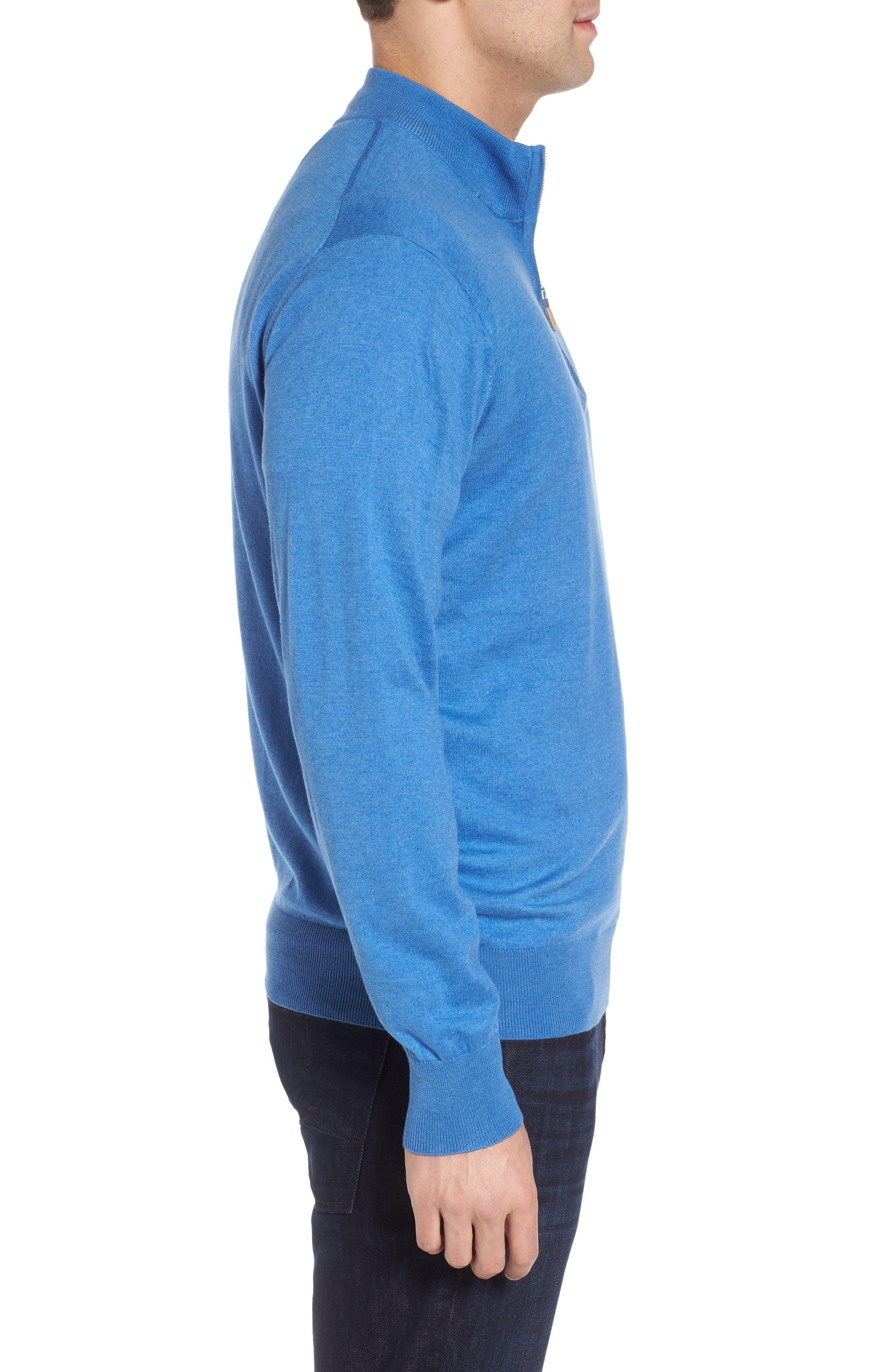 Crown Soft Quarter-Zip Pullover,                             Alternate thumbnail 3, color,                             Boardwalk Blue
