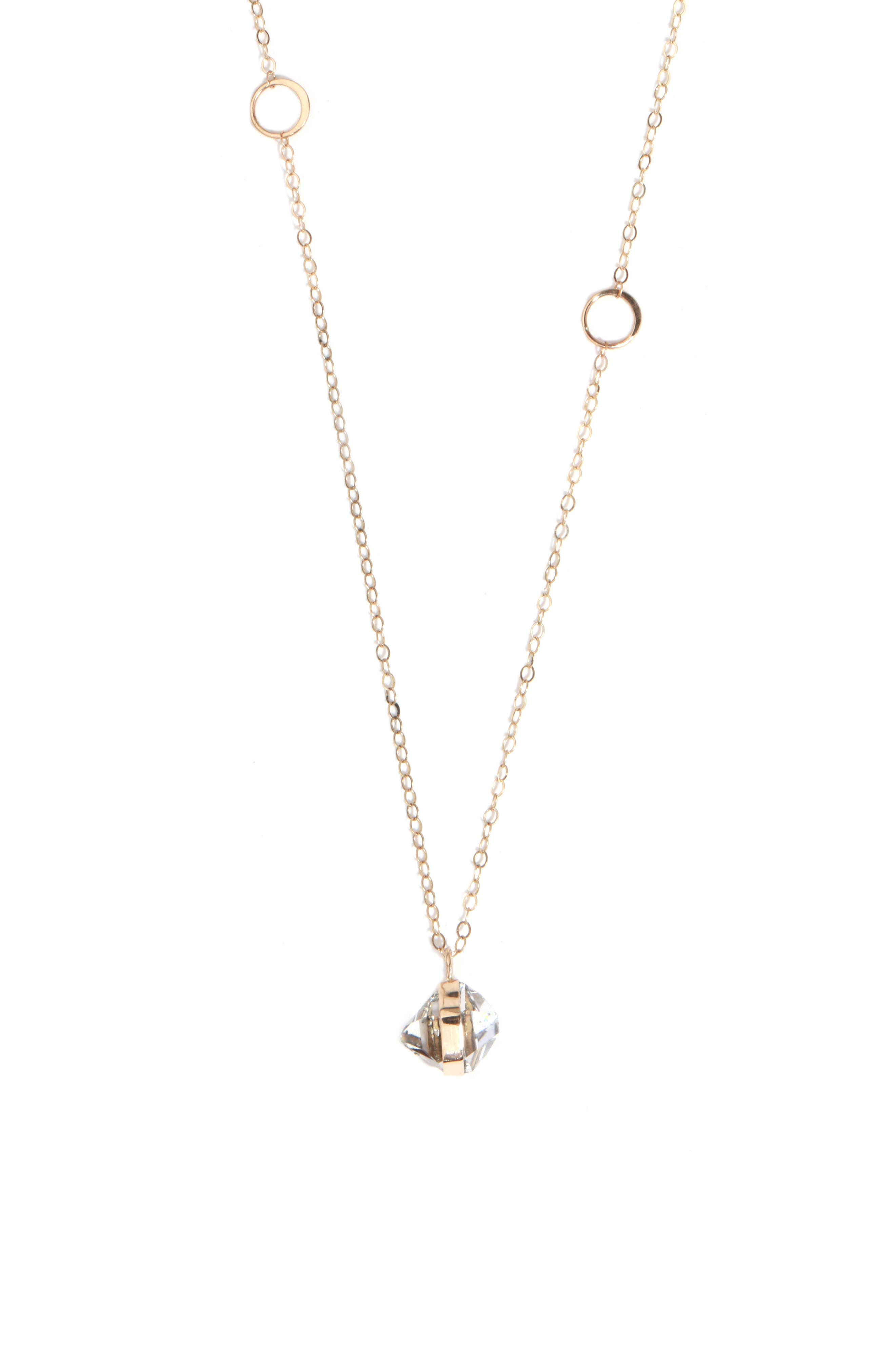 Herkimer Pendant Necklace,                         Main,                         color, Yellow Gold