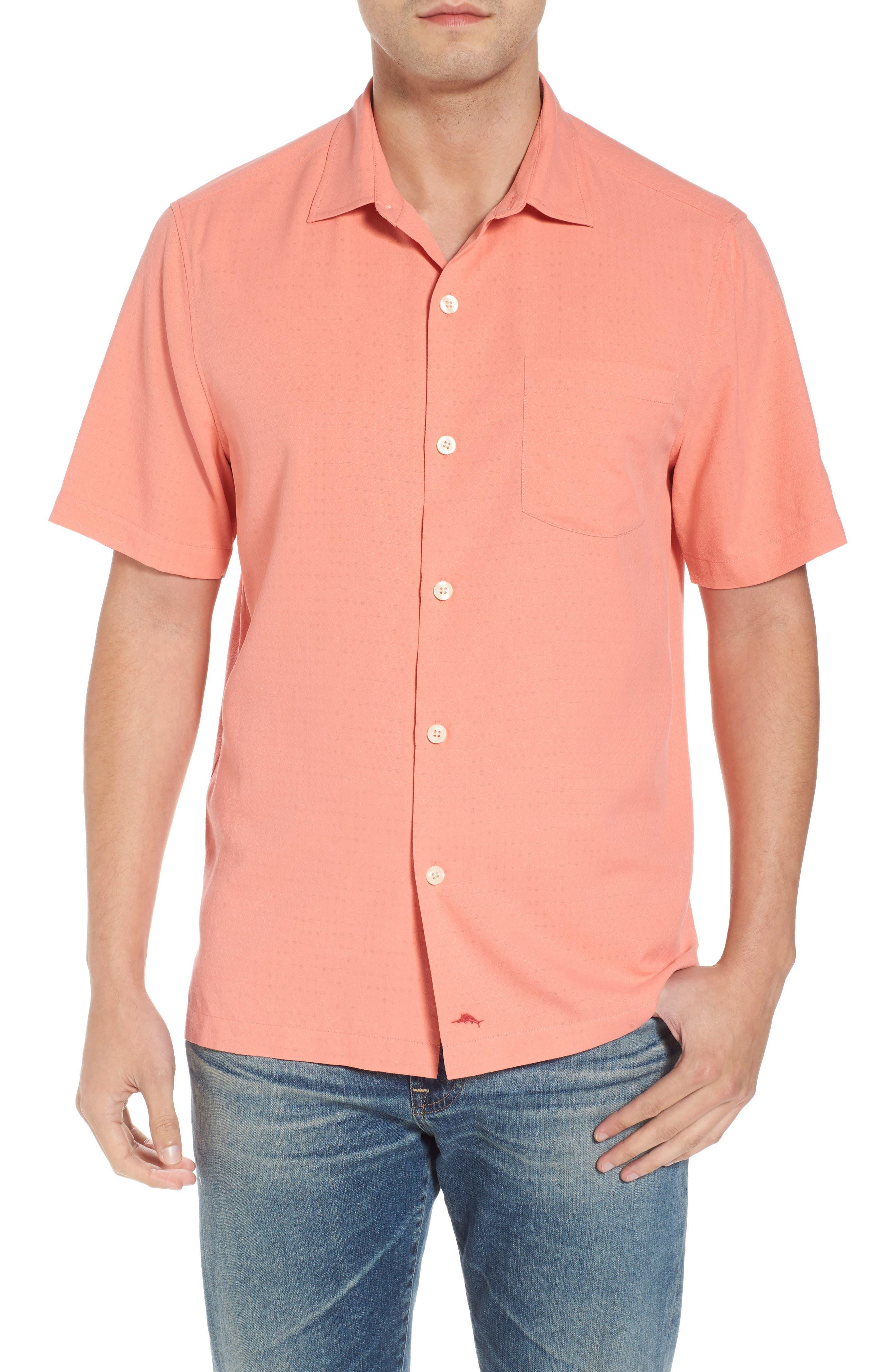 Main Image - Tommy Bahama Oasis Jacquard Silk Sport Shirt