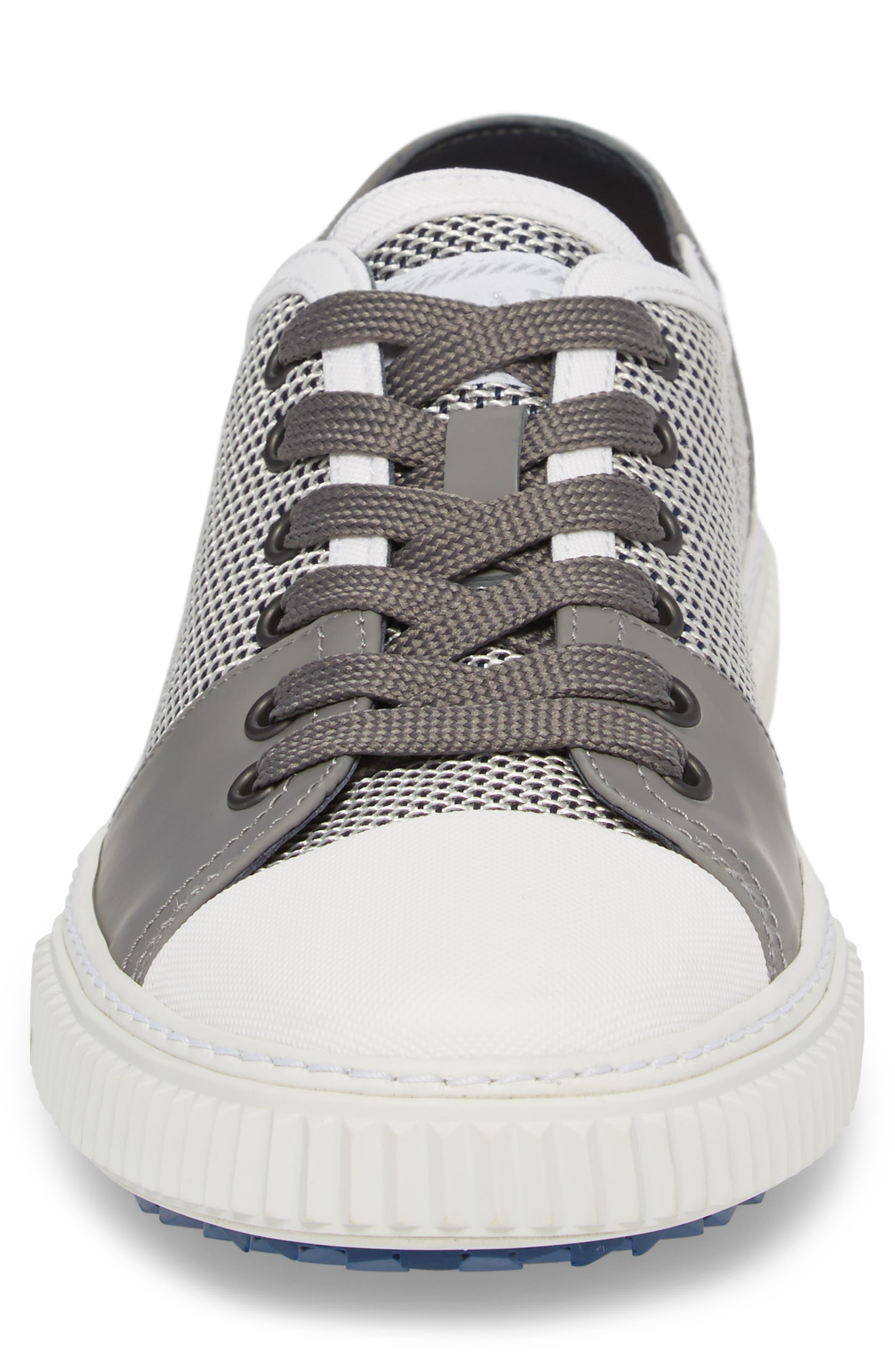 Linea Rossa Low-Top Sneaker,                             Alternate thumbnail 4, color,                             Baltic White