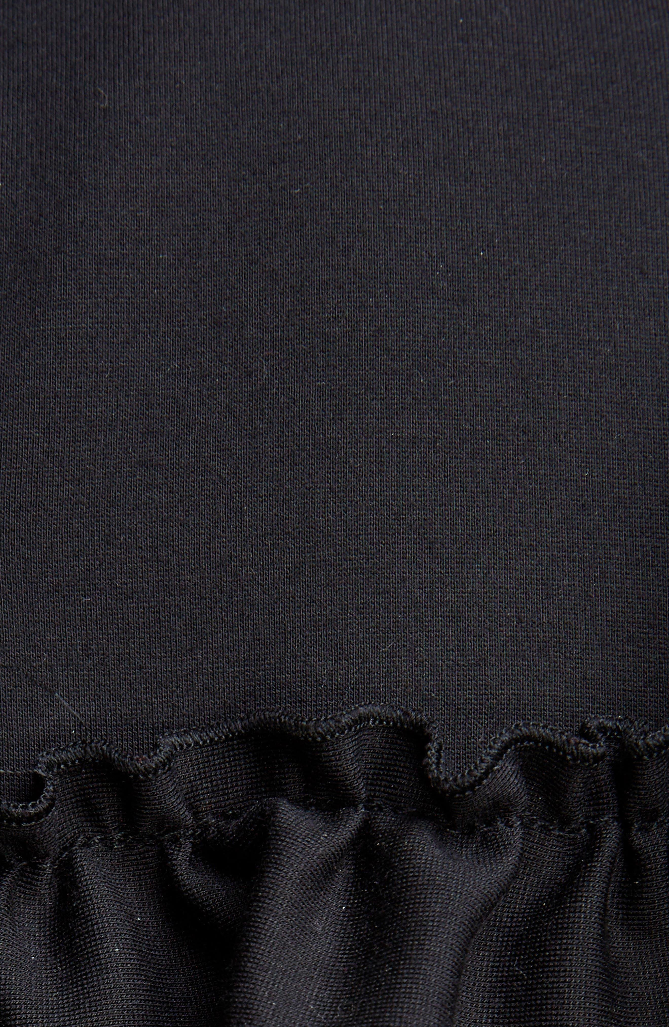 Embellished Ruffle Bib Blouse,                             Alternate thumbnail 6, color,                             Black Jet