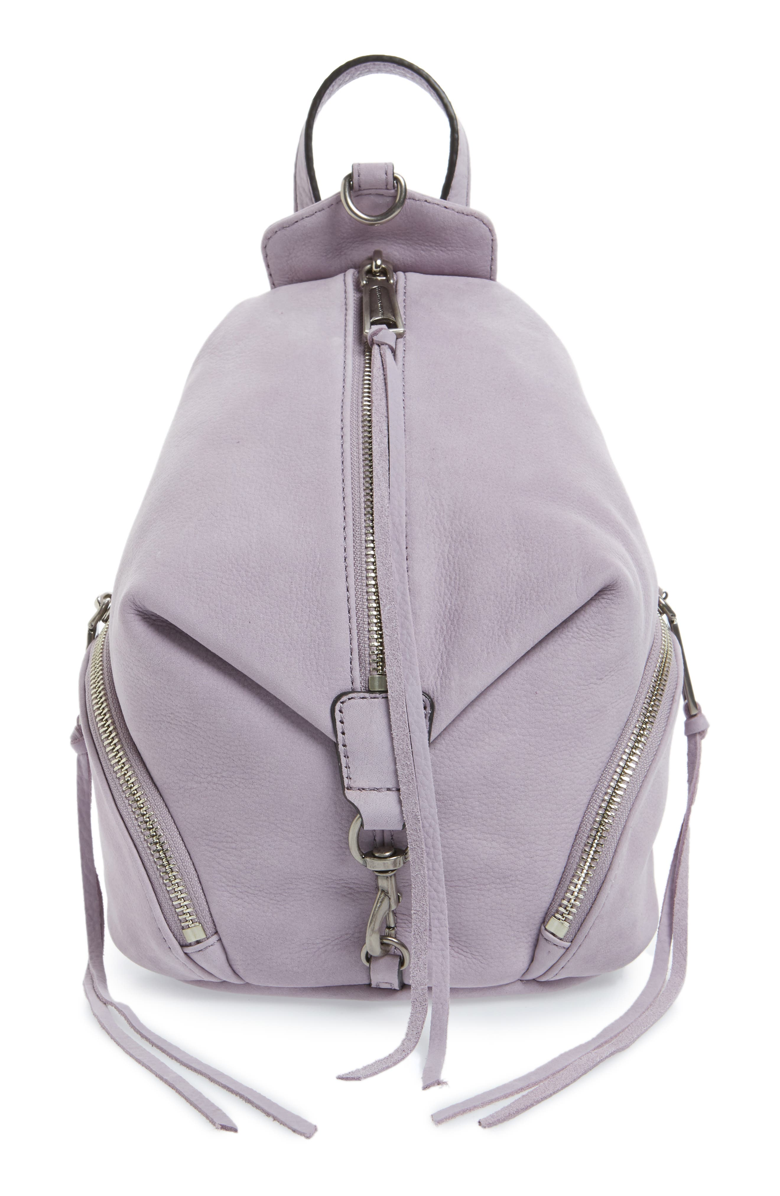 Alternate Image 1 Selected - Rebecca Minkoff Mini Julian Nubuck Leather Convertible Backpack