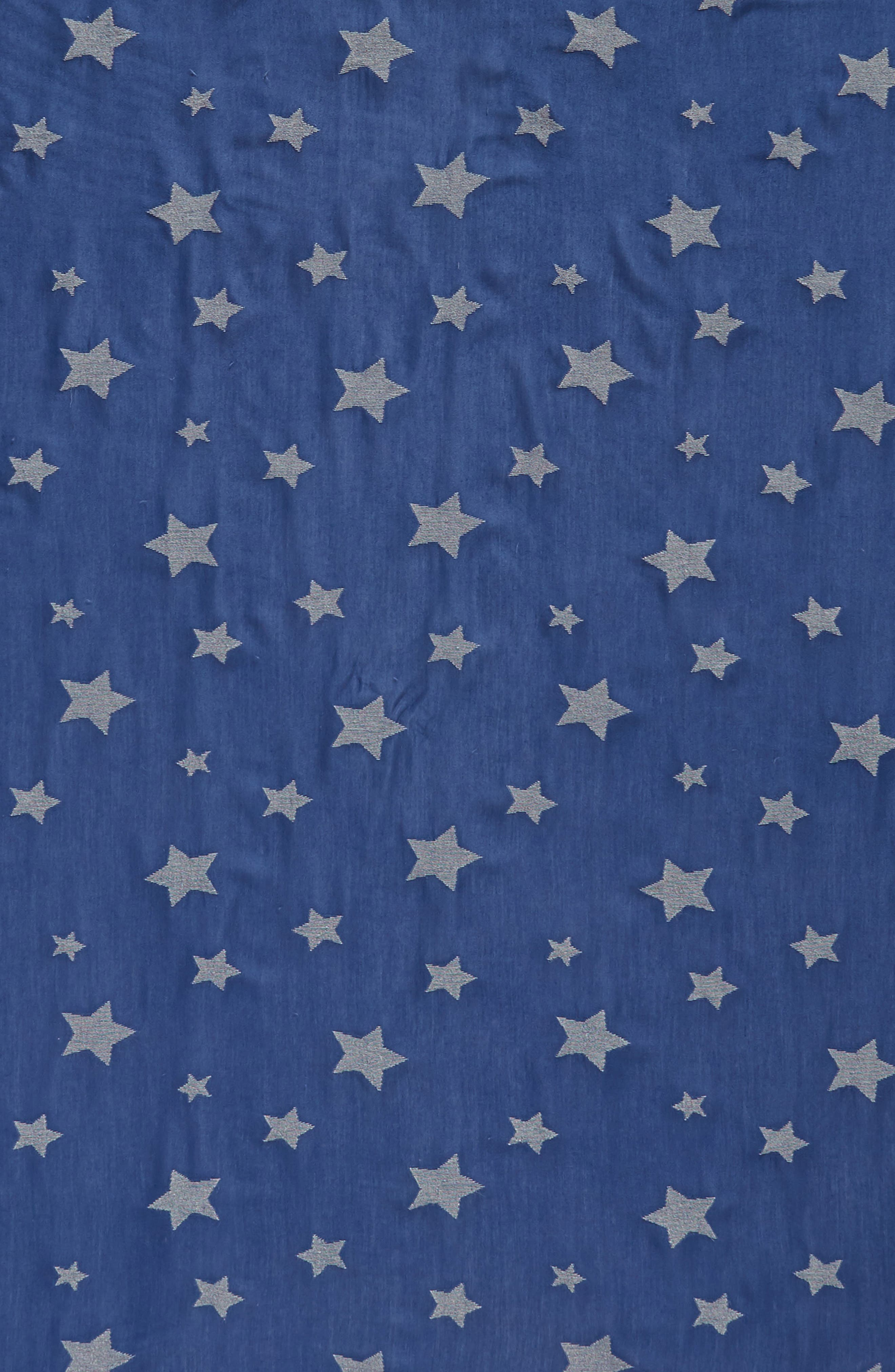 Star Scarf,                             Alternate thumbnail 4, color,                             Blue Multi