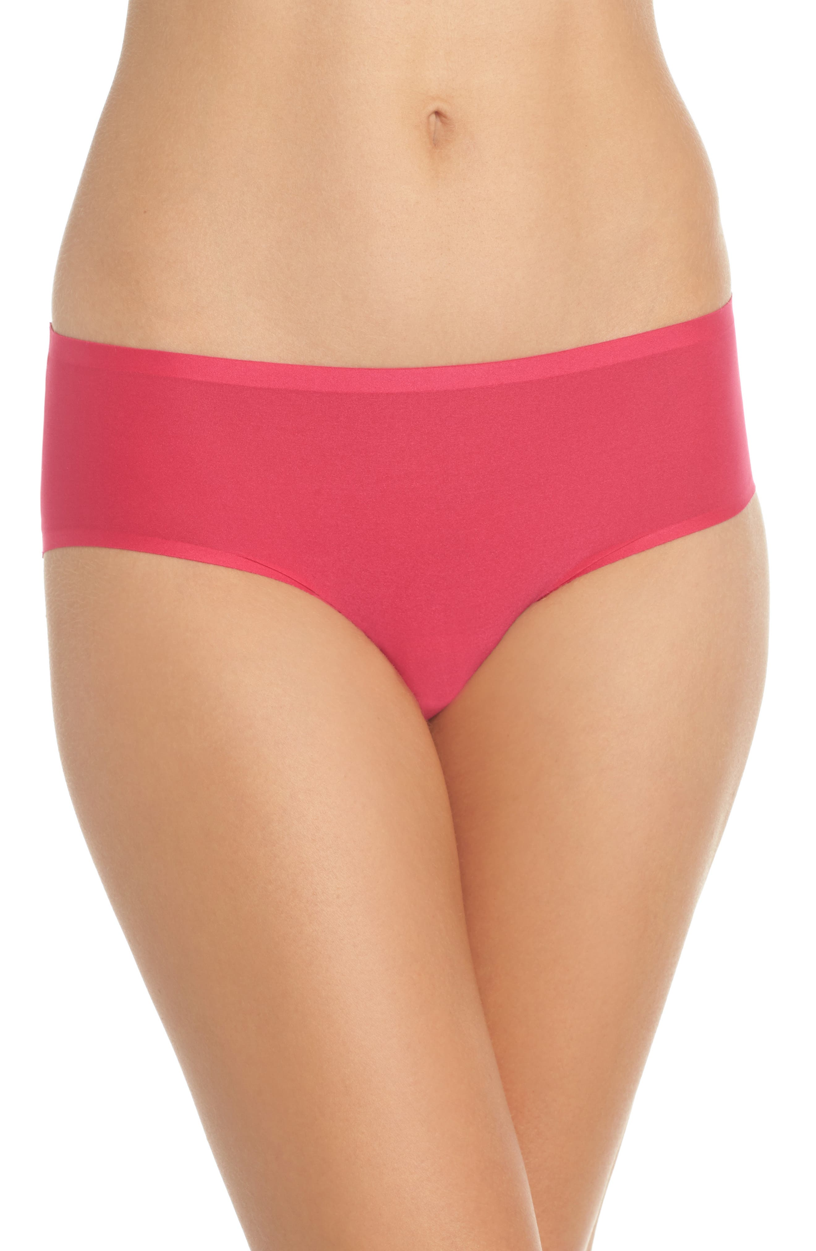 Soft Stretch Seamless Hipster Panties,                         Main,                         color, Raspberry