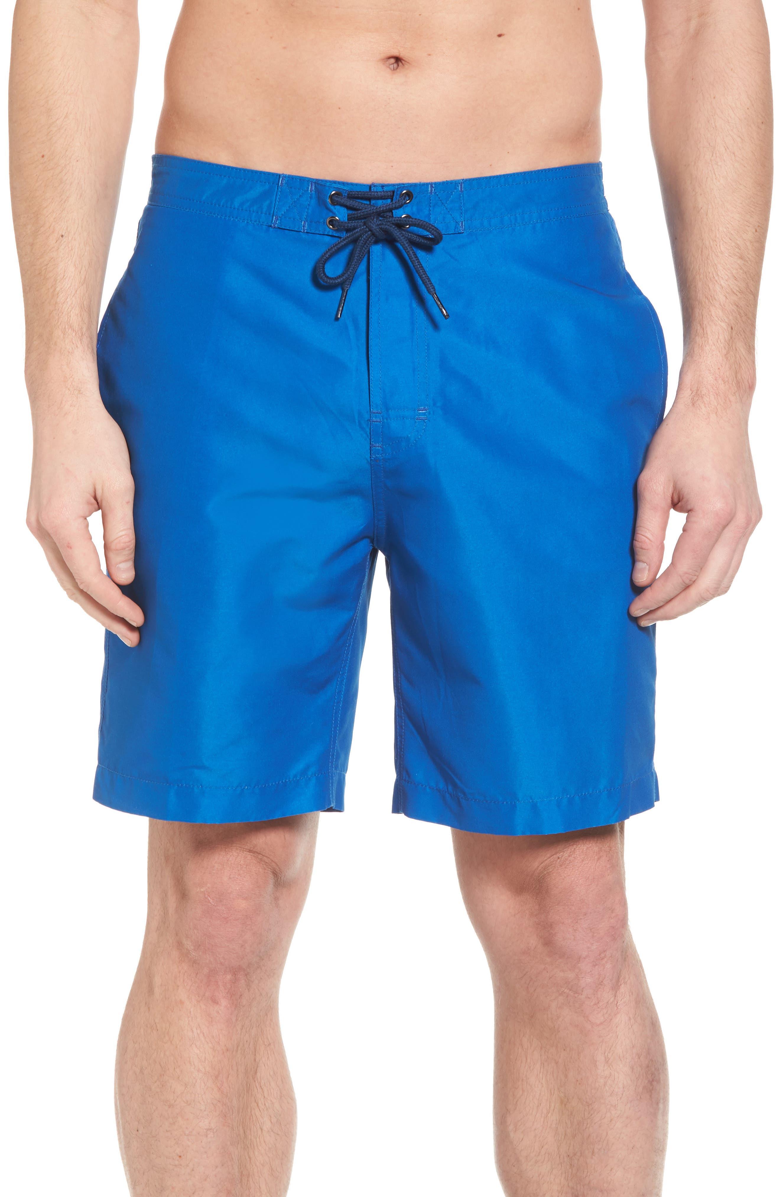Swami Solid Board Shorts,                             Main thumbnail 1, color,                             Nautical Blue/ Marine