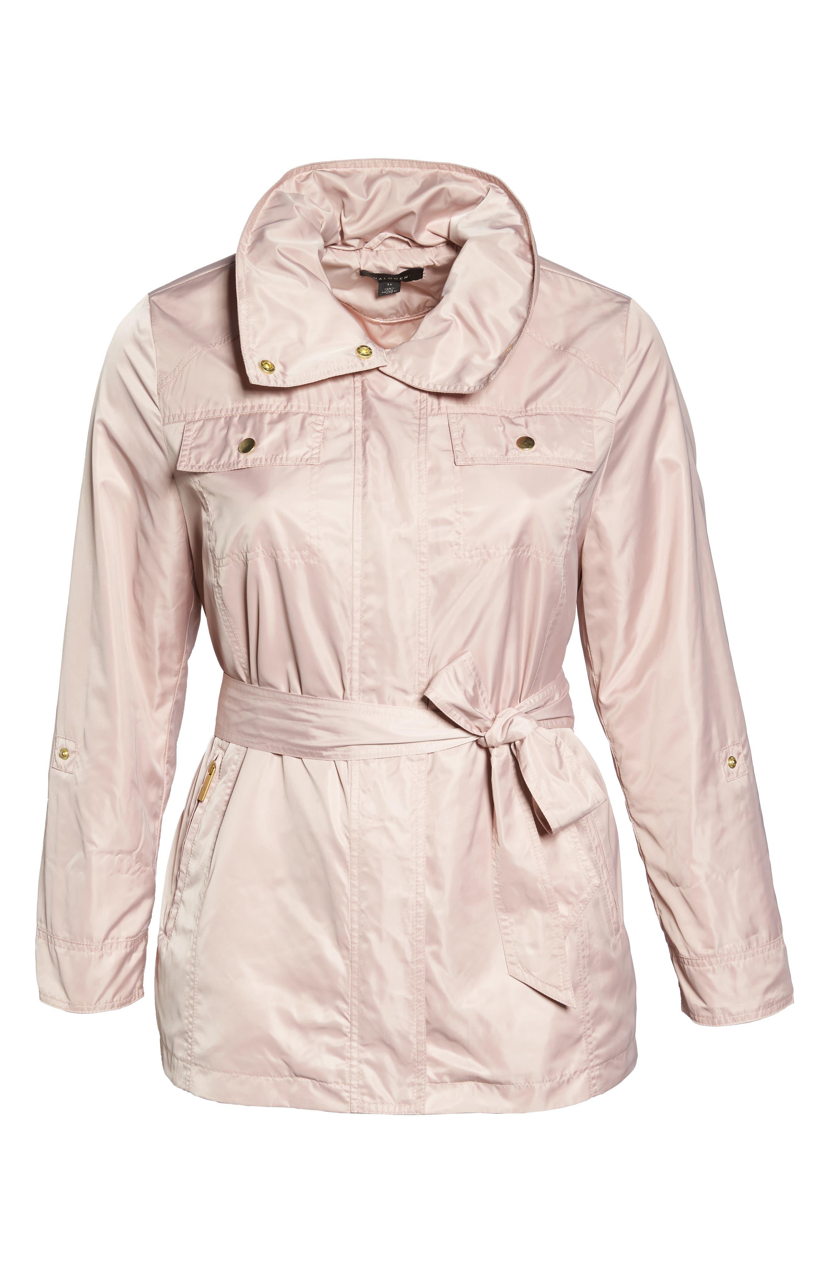 Belted Lightweight Jacket,                             Alternate thumbnail 6, color,                             Blush