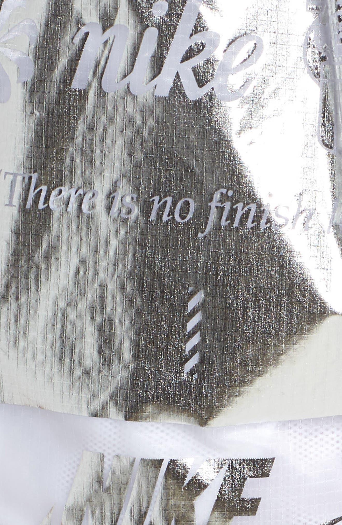 Sportswear Women's Metallic Shorts,                             Alternate thumbnail 6, color,                             White/ White