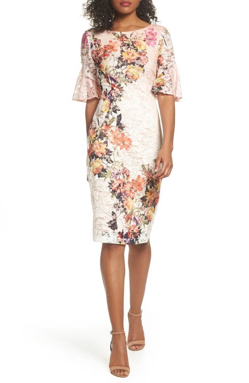 Main Image - Gabby Skye Print Lace Sheath Dress