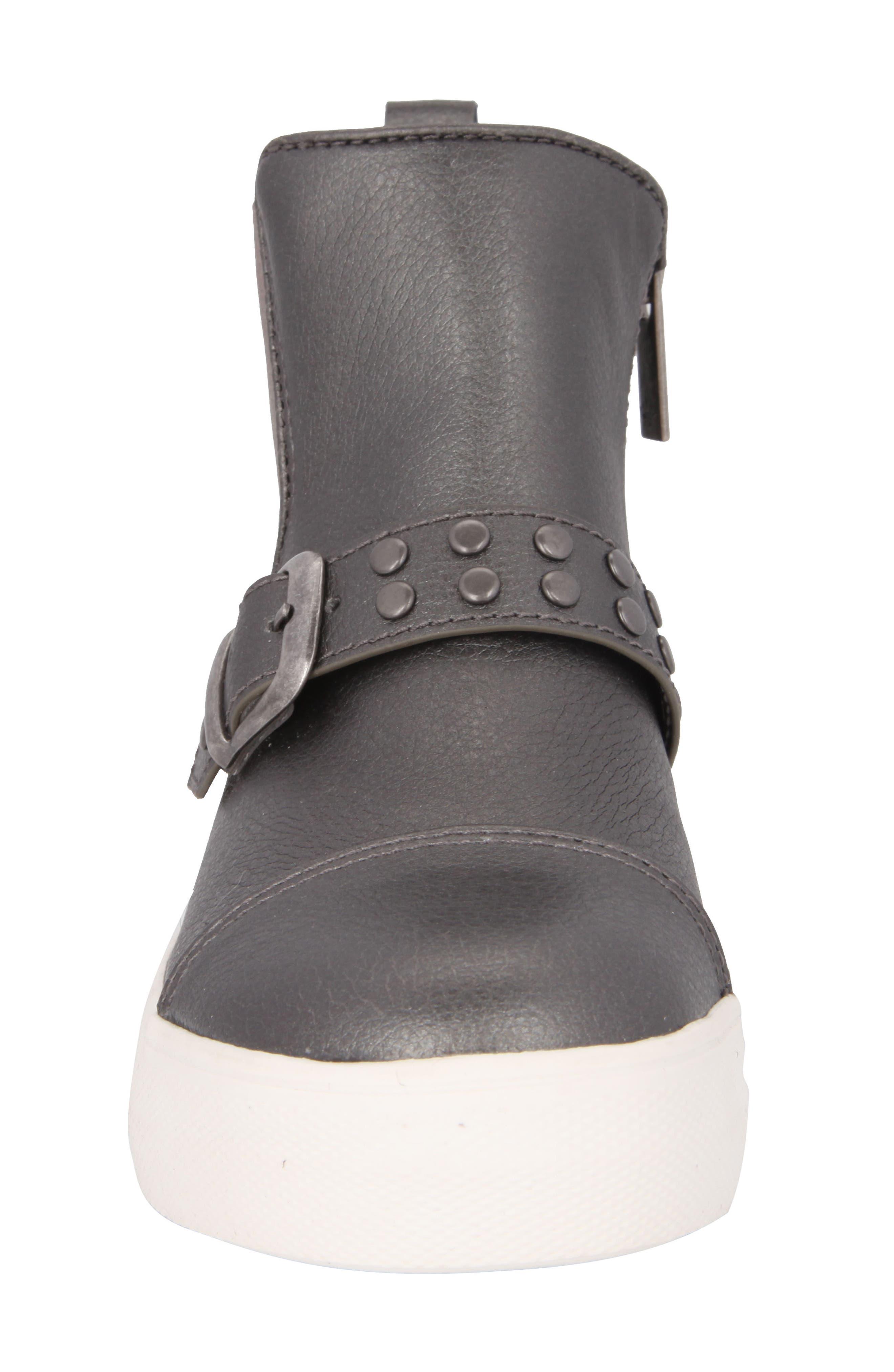 Pammela Glittery High Top Sneaker,                             Alternate thumbnail 4, color,                             Metallic Pewter