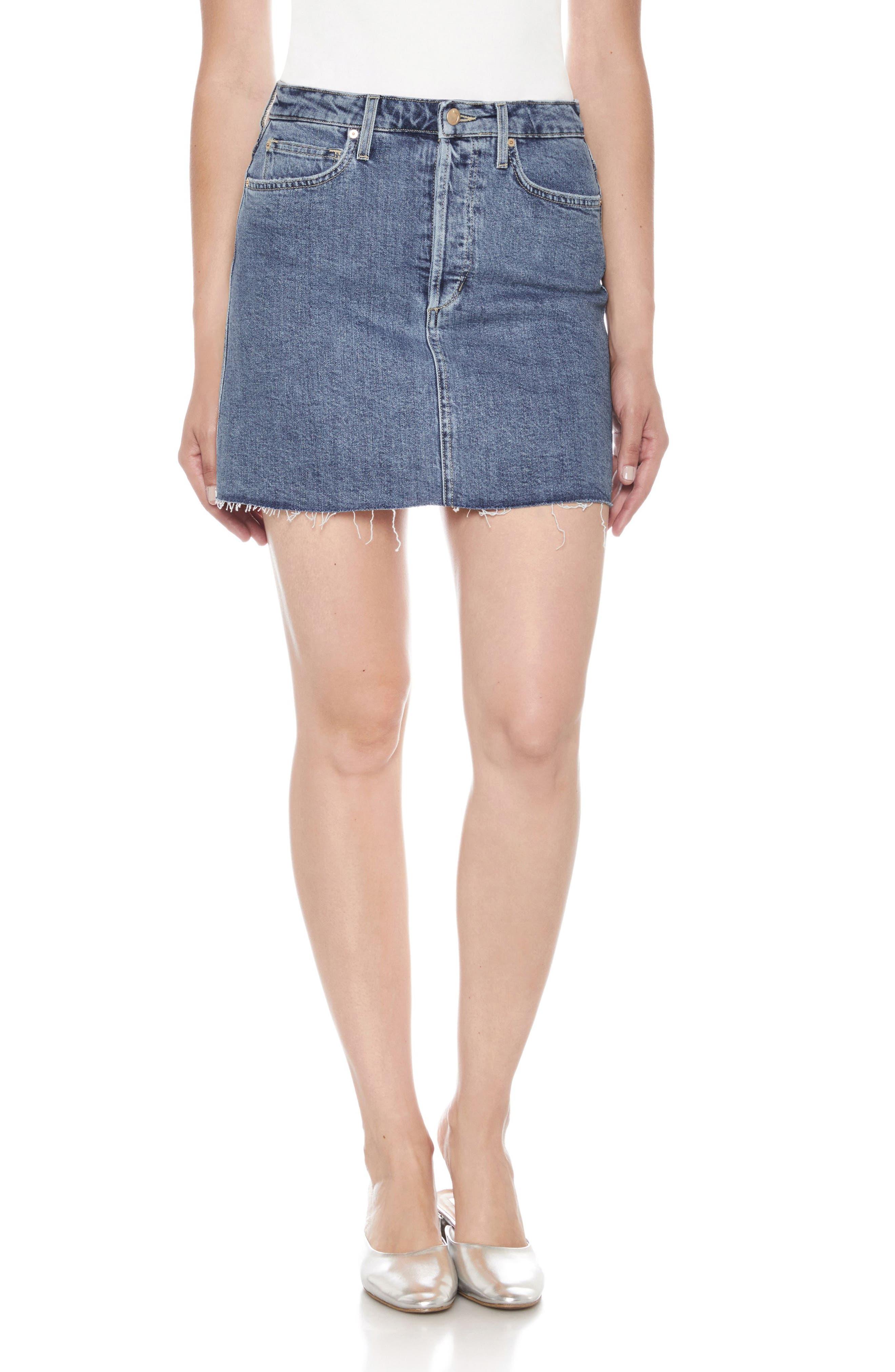 Joe's Bella High Waist Denim Skirt (Alaia)