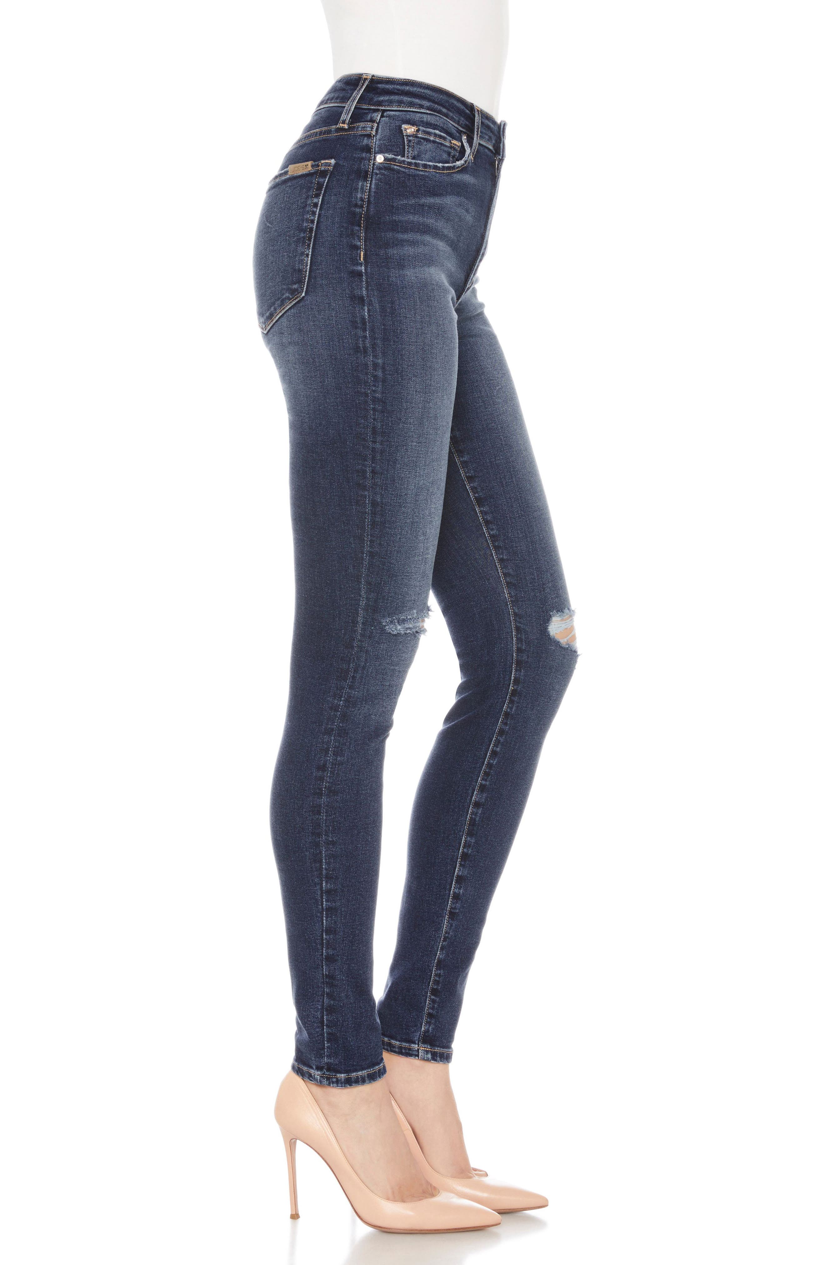 Flawless - Icon Ankle Skinny Jeans,                             Alternate thumbnail 3, color,                             Mandala