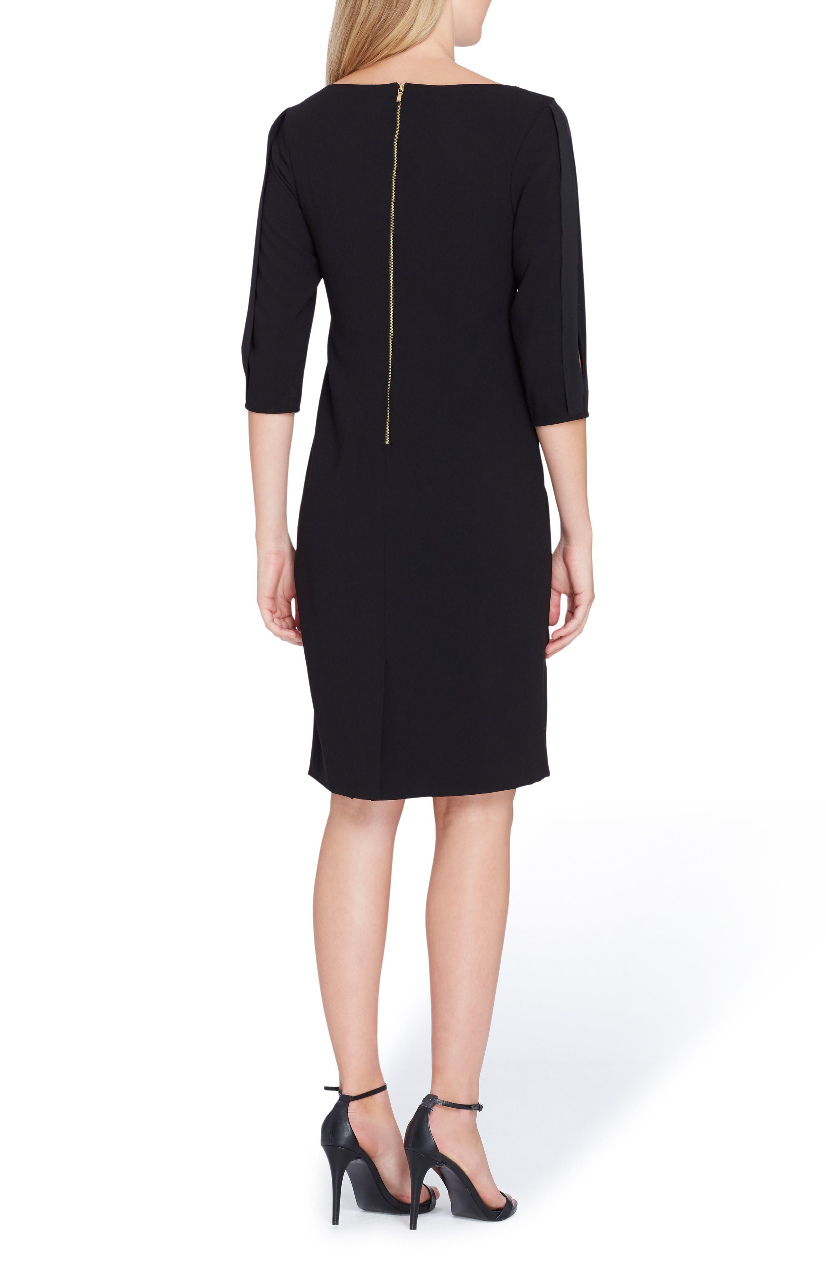 Alternate Image 2  - Tahari Split Sleeve Midi Sheath Dress