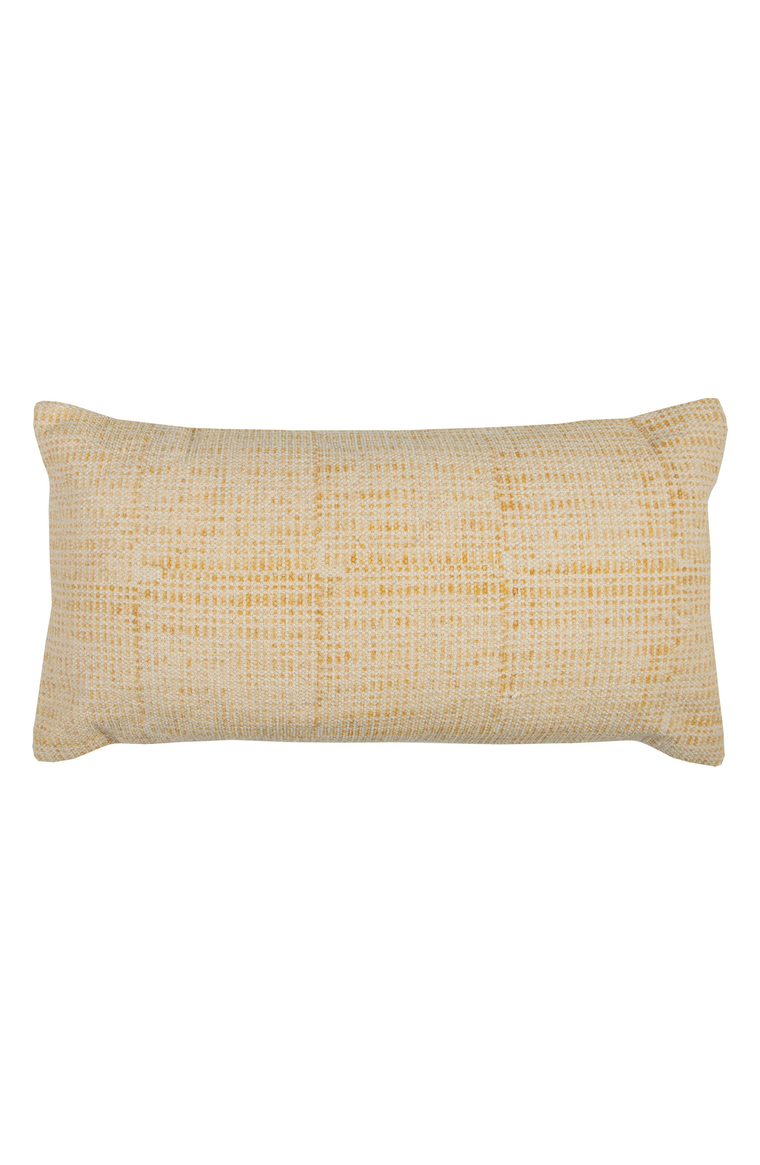 Woven Accent Pillow,                         Main,                         color, Yellow