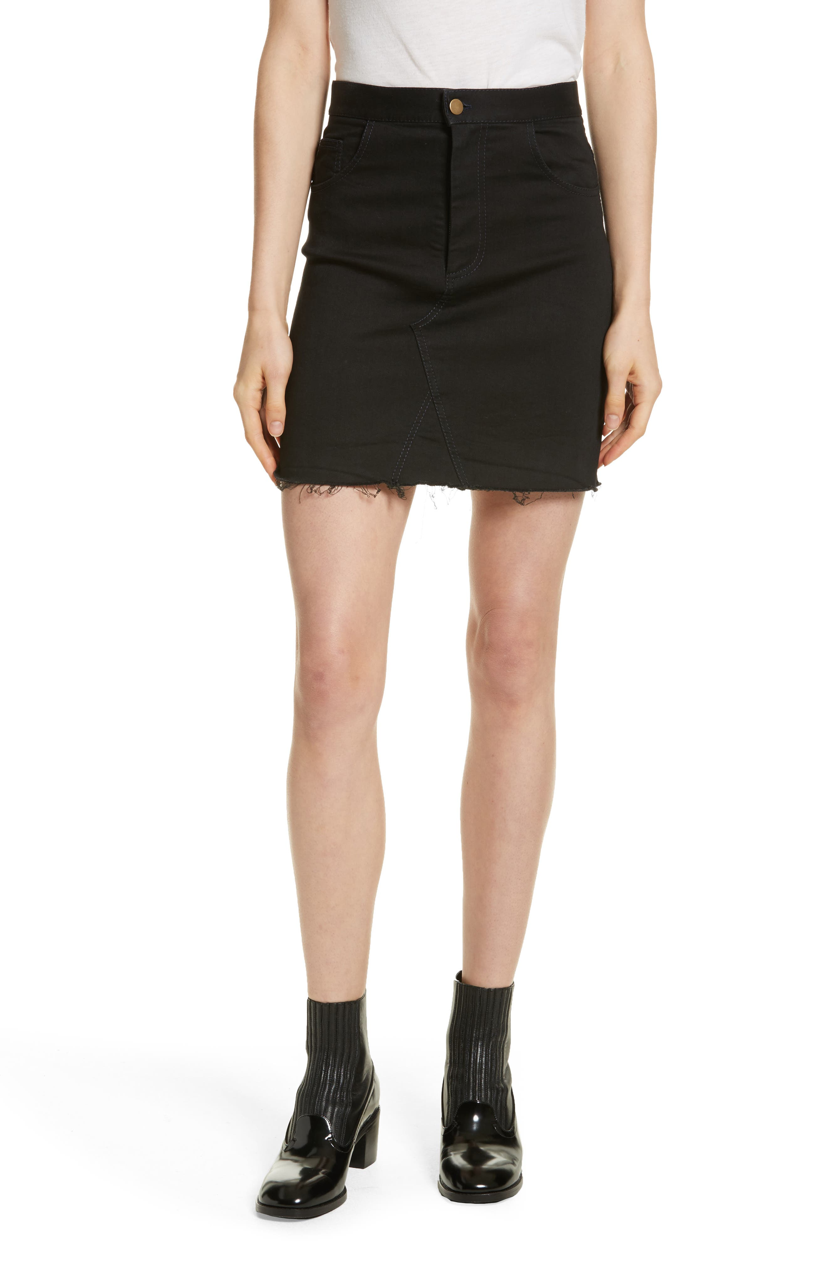 Harvey Faircloth Denim Miniskirt