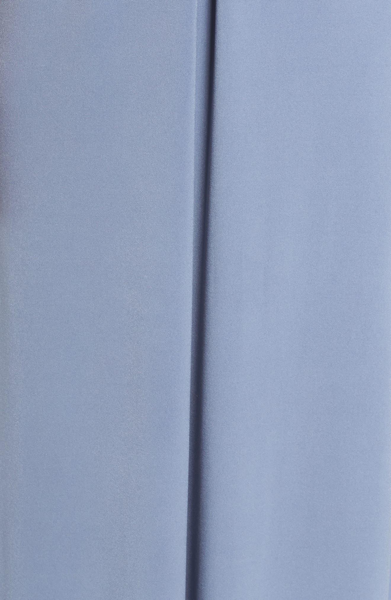 Sena Jersey Keyhole Halter Gown,                             Alternate thumbnail 5, color,                             Slate