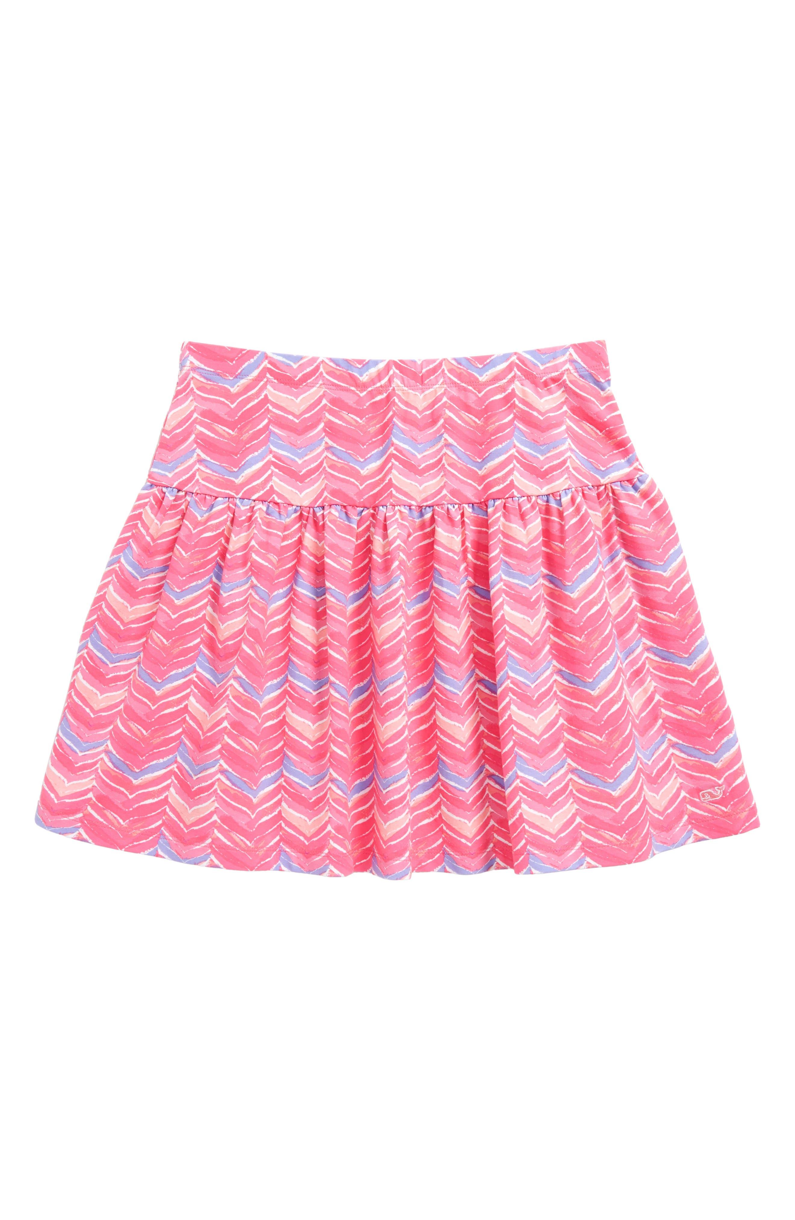 Main Image - vineyard vines Watercolor Whale Tail Print Skirt (Little Girls & Big Girls)