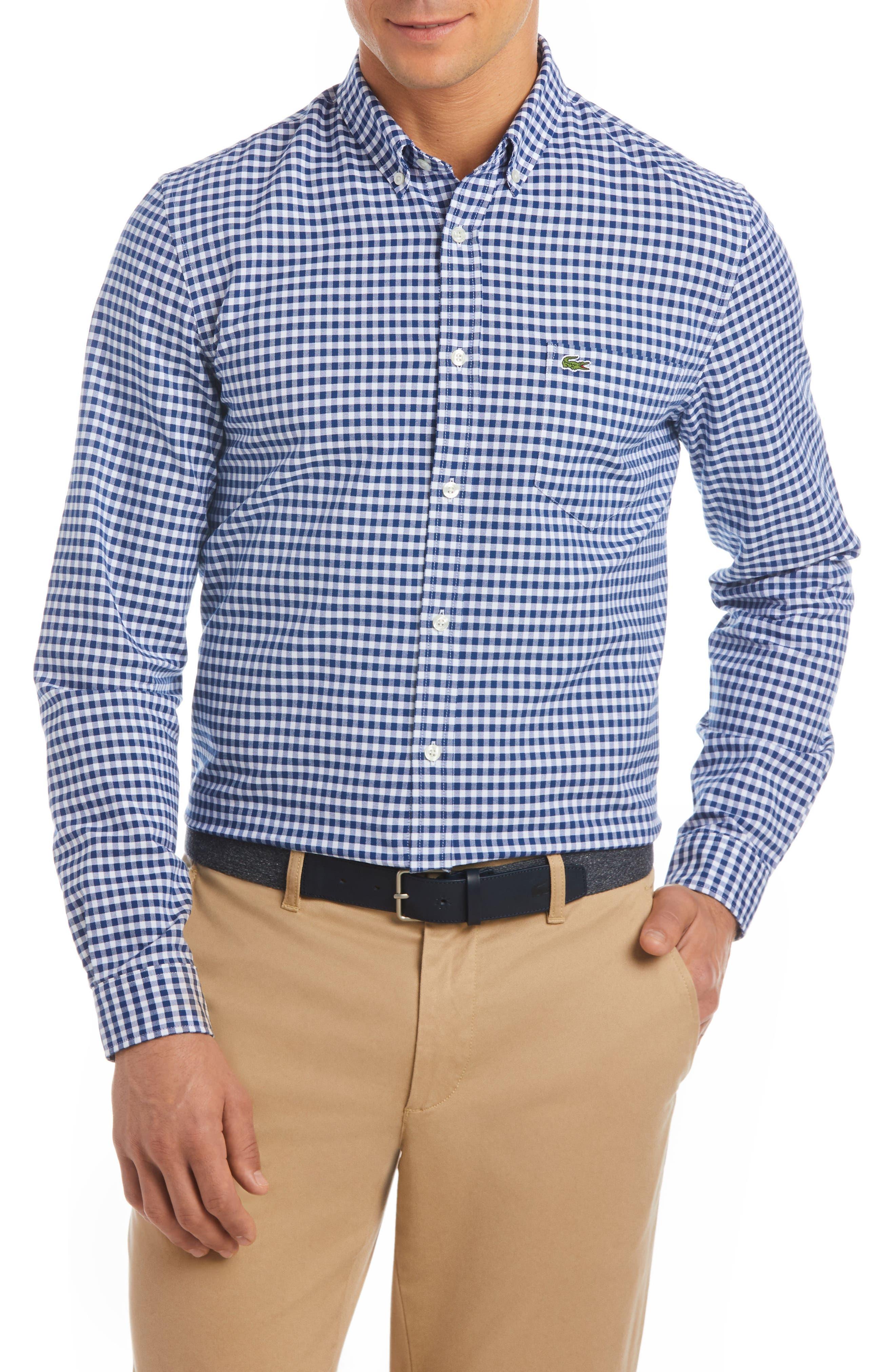 Lacoste Slim Fit Gingham Sport Shirt