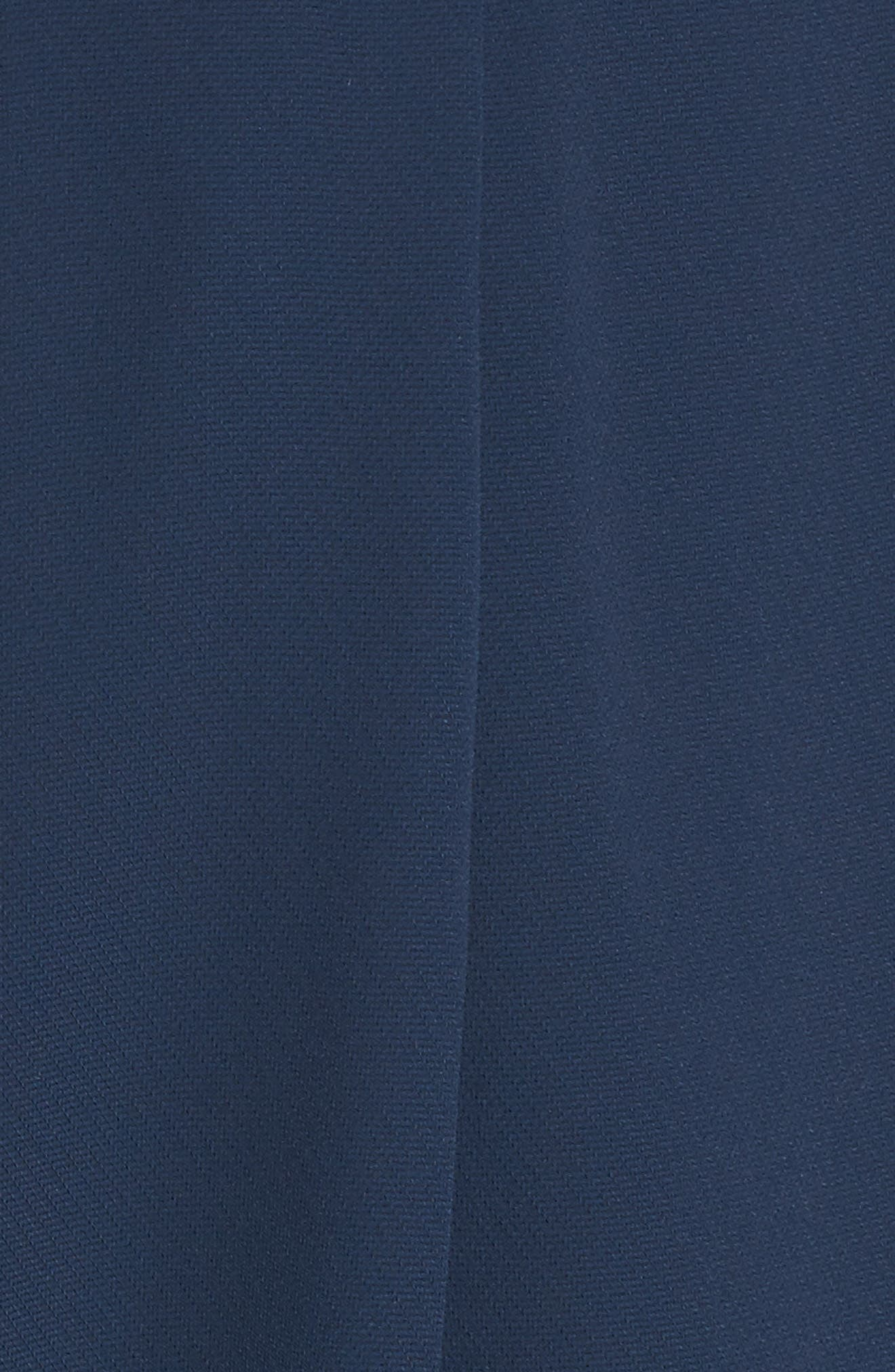 Evening Light Drape Dress,                             Alternate thumbnail 5, color,                             Iron Navy