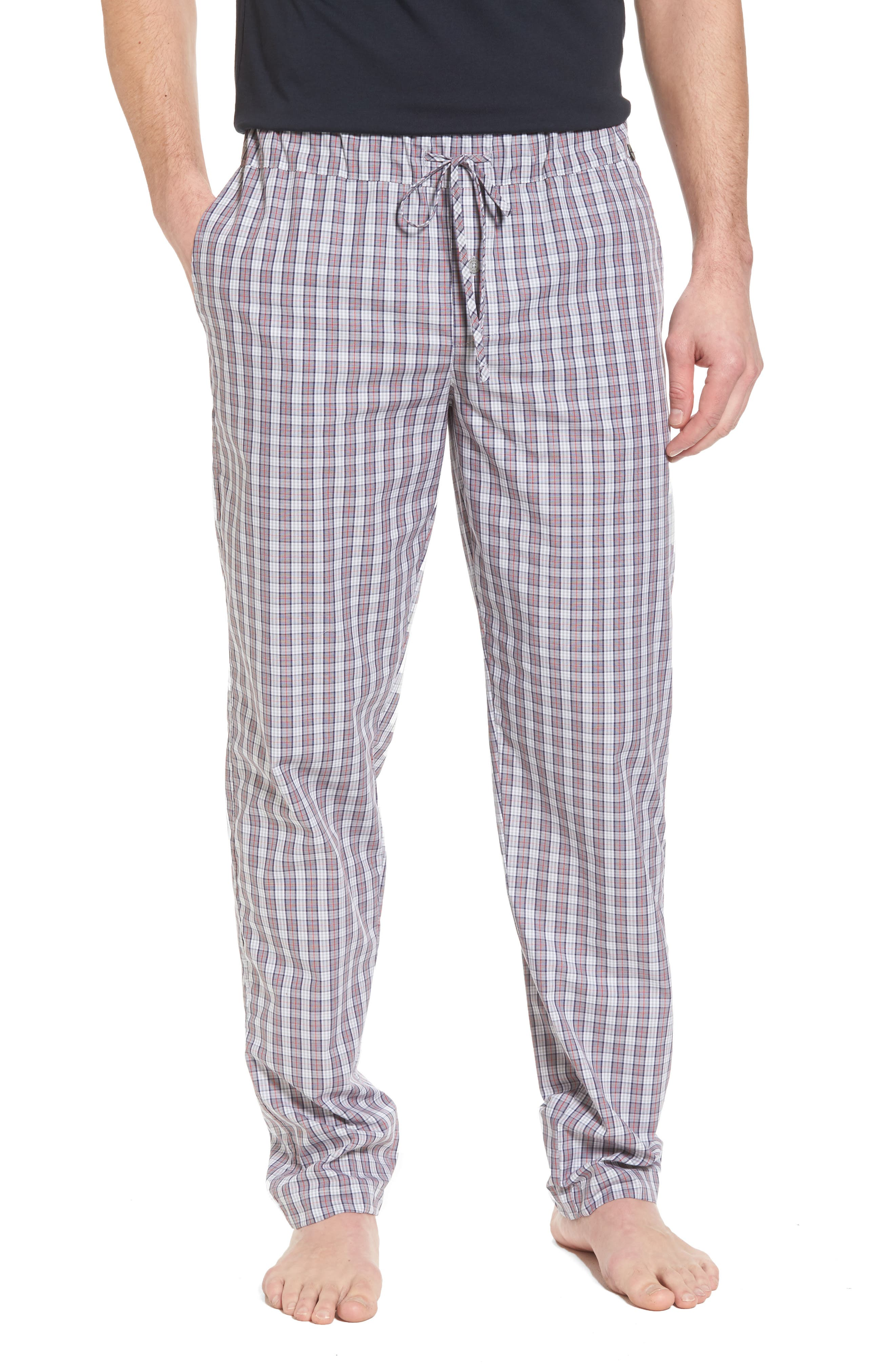 Night & Day Woven Lounge Pants,                         Main,                         color, Red Karo