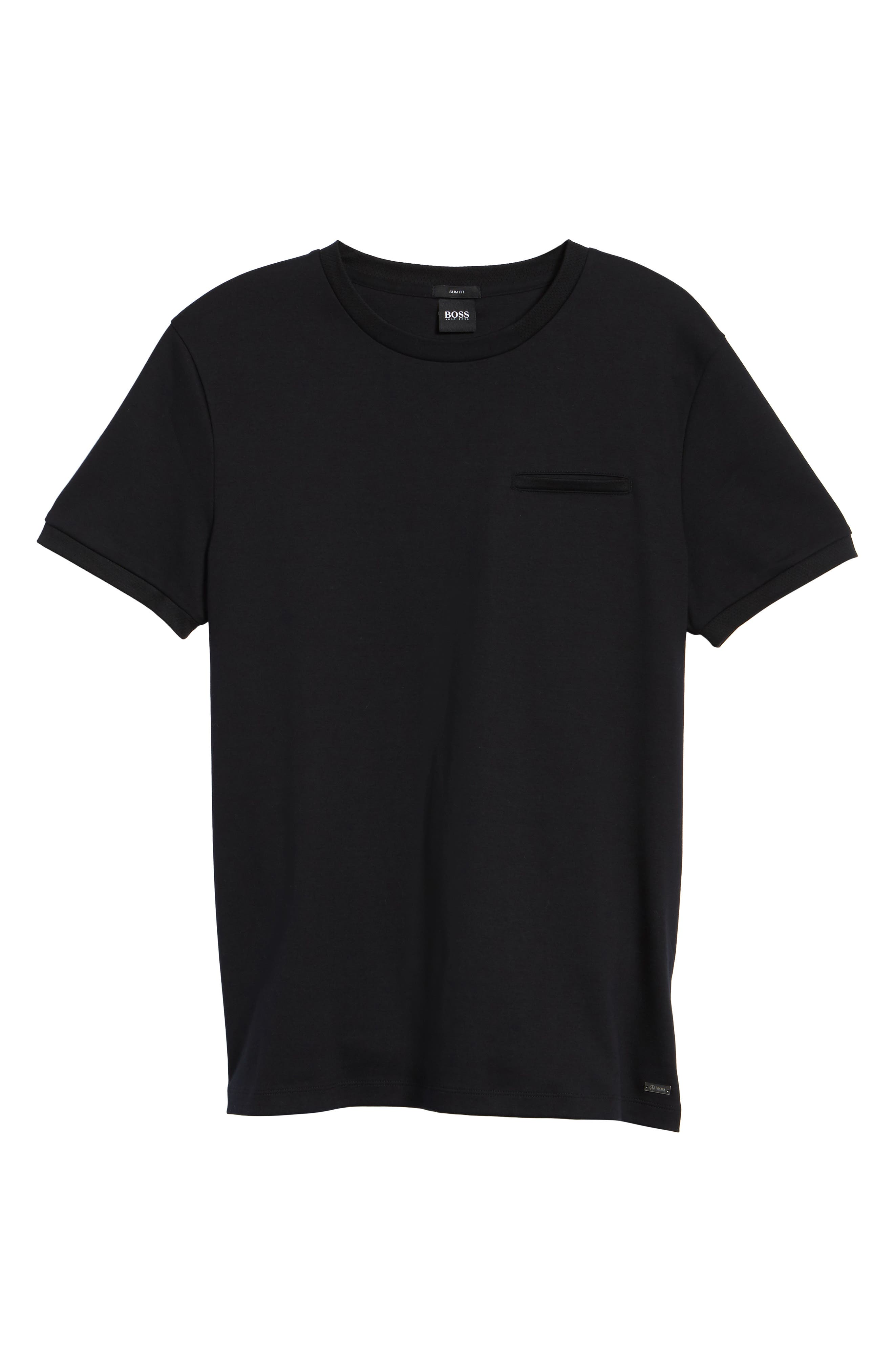Tessler Mercedes Slim Fit Crewneck T-Shirt,                             Alternate thumbnail 6, color,                             Black