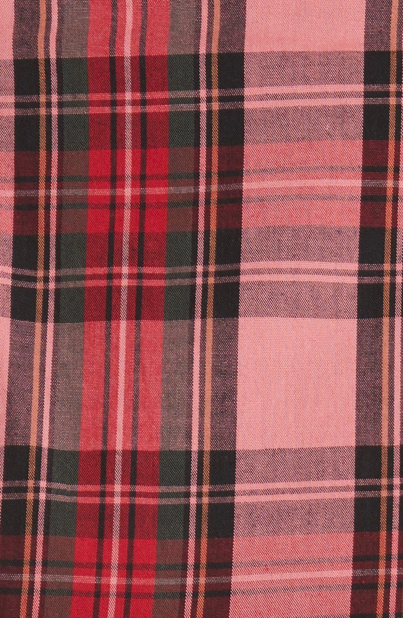 Em Ruffle Tartan Skirt,                             Alternate thumbnail 5, color,                             Pink