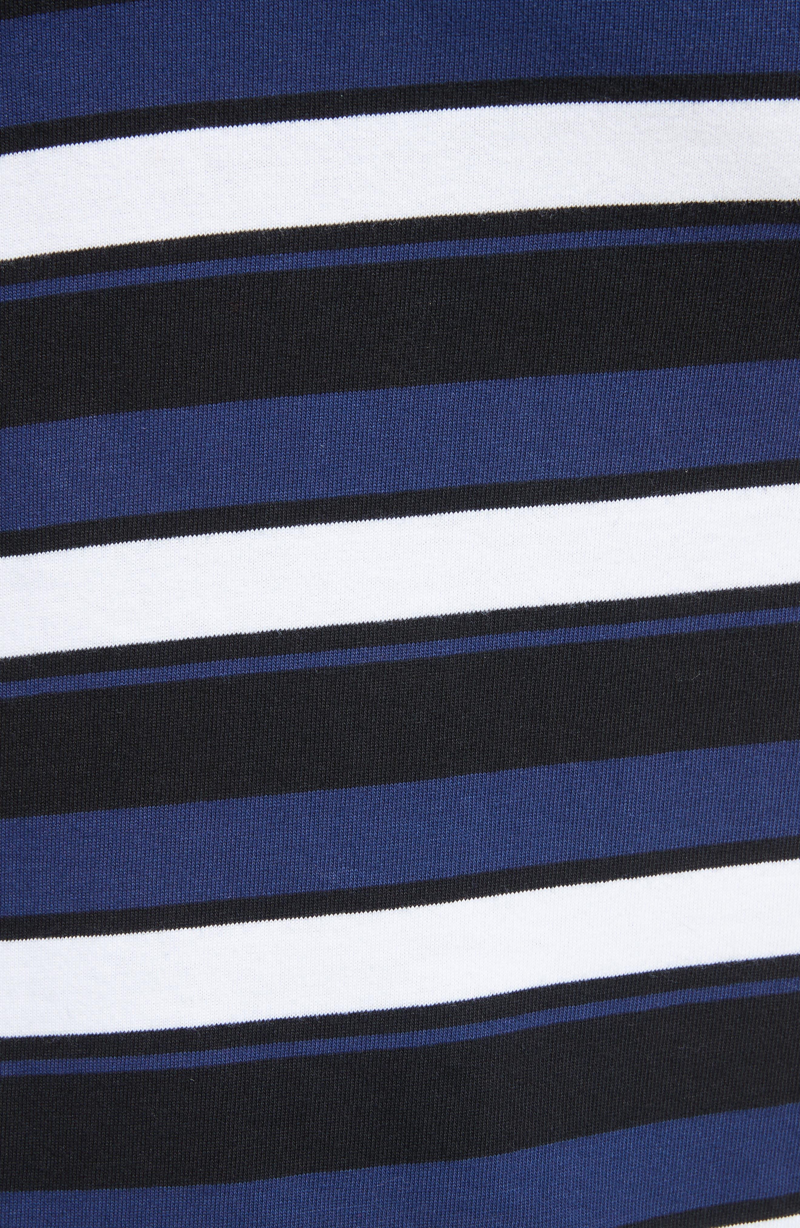 Stripe Maxi Skirt,                             Alternate thumbnail 5, color,                             Cobalt-Black