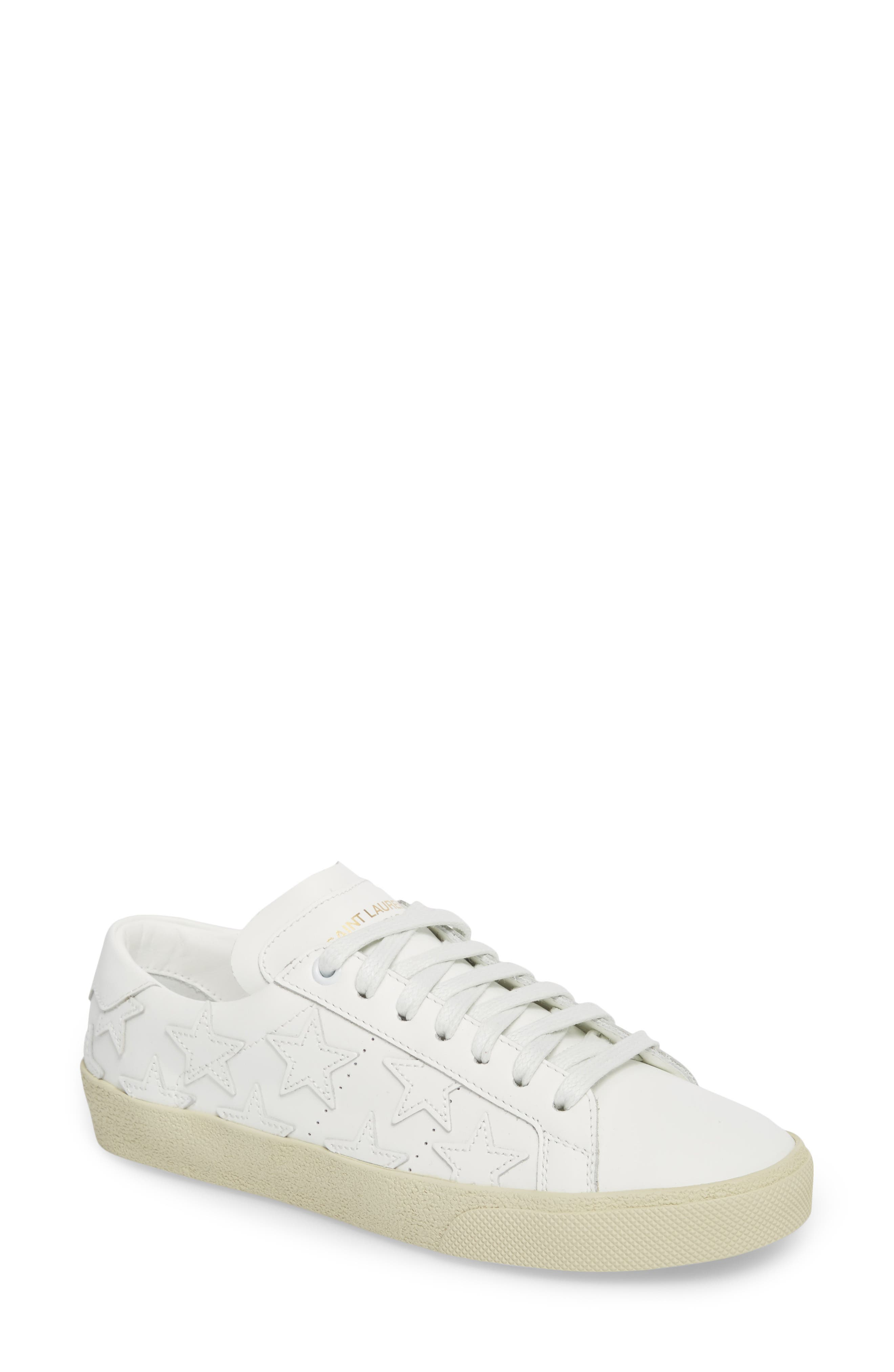Classic Court Sneaker,                         Main,                         color, Ivory Leather