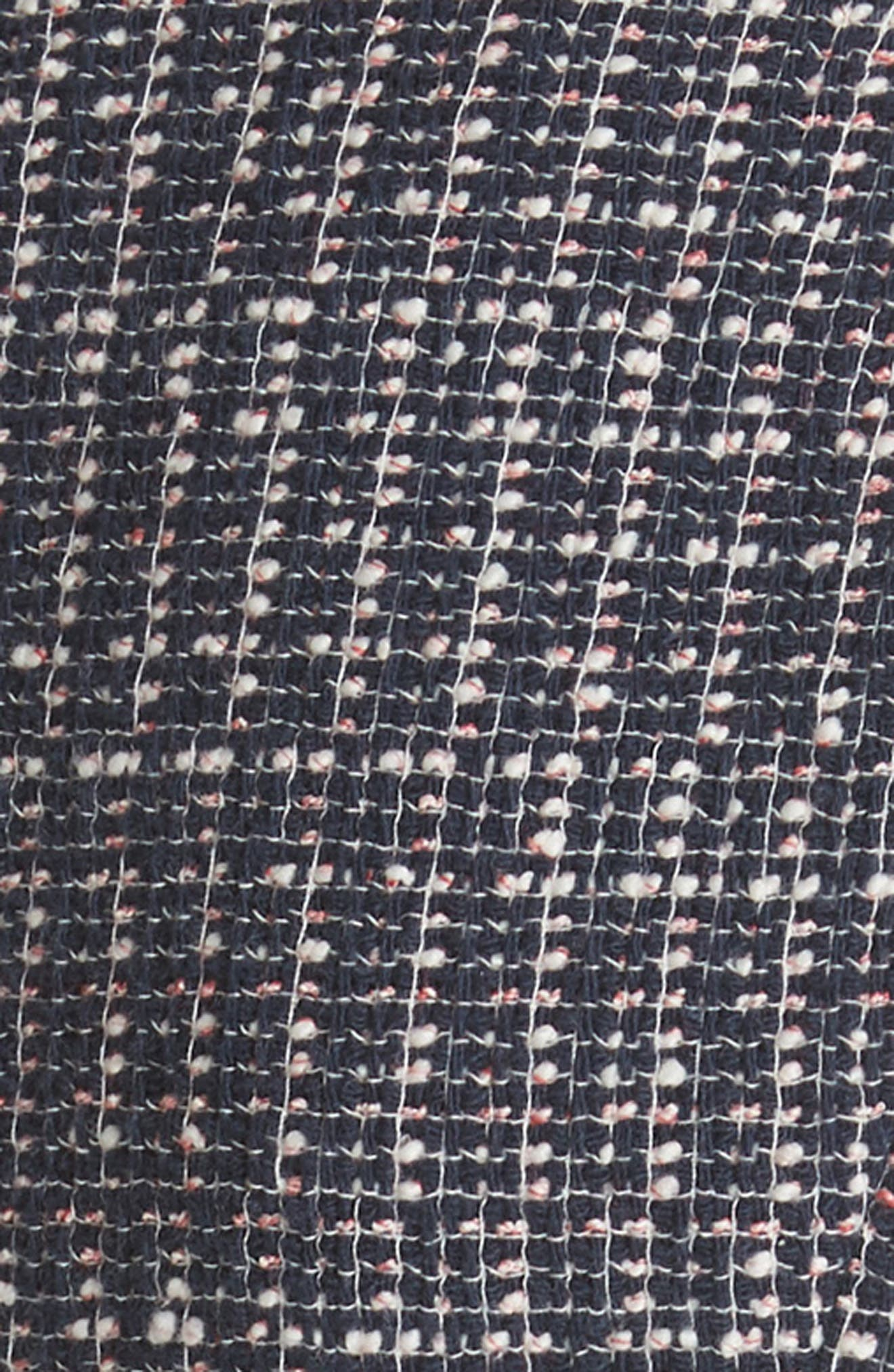 Multi Tweed Fit & Flare Dress,                             Alternate thumbnail 5, color,                             Navy Combo