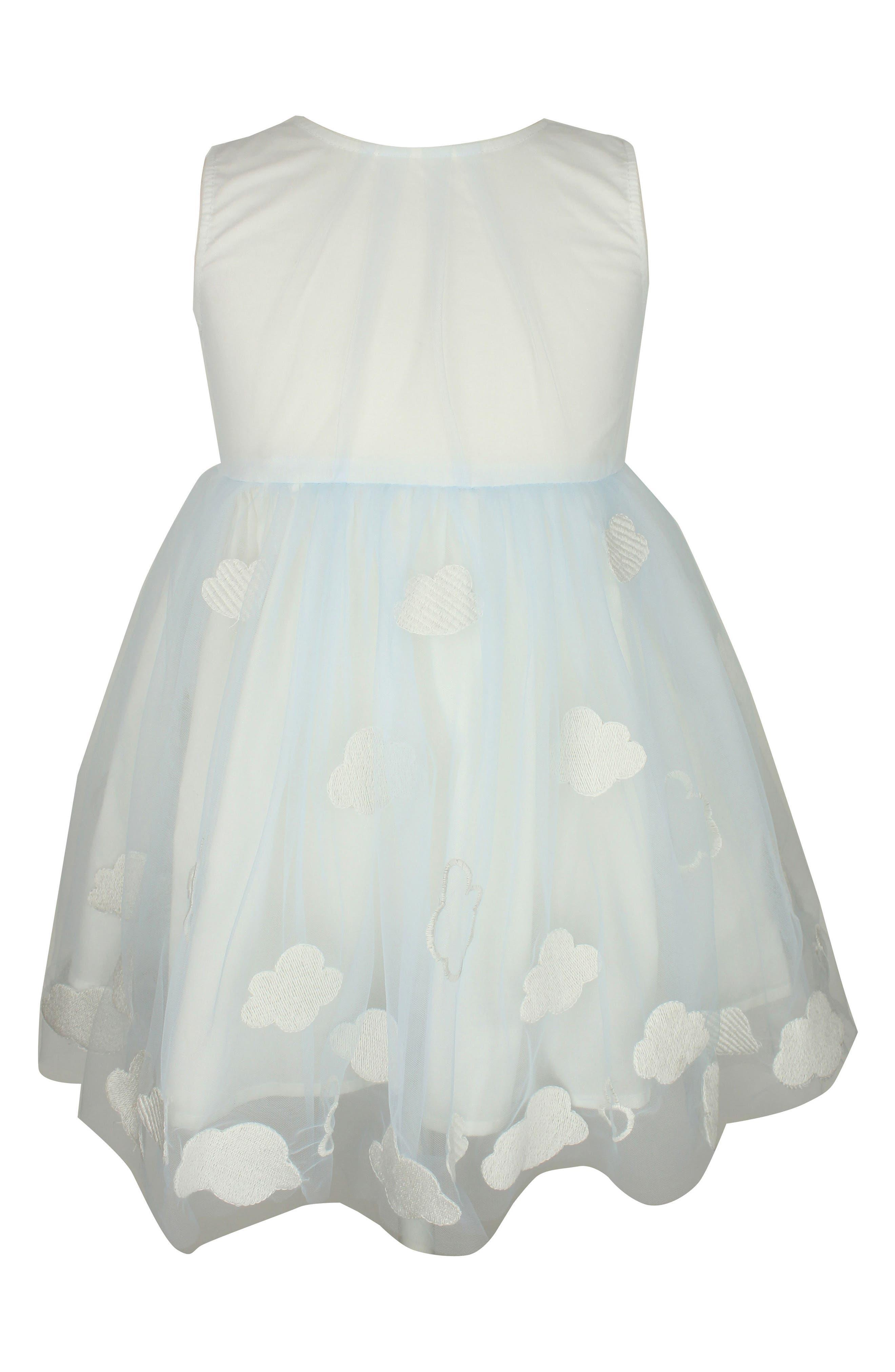 Alternate Image 1 Selected - Popatu Embroidered Cloud Dress (Toddler Girls, Little Girls & Big Girls)