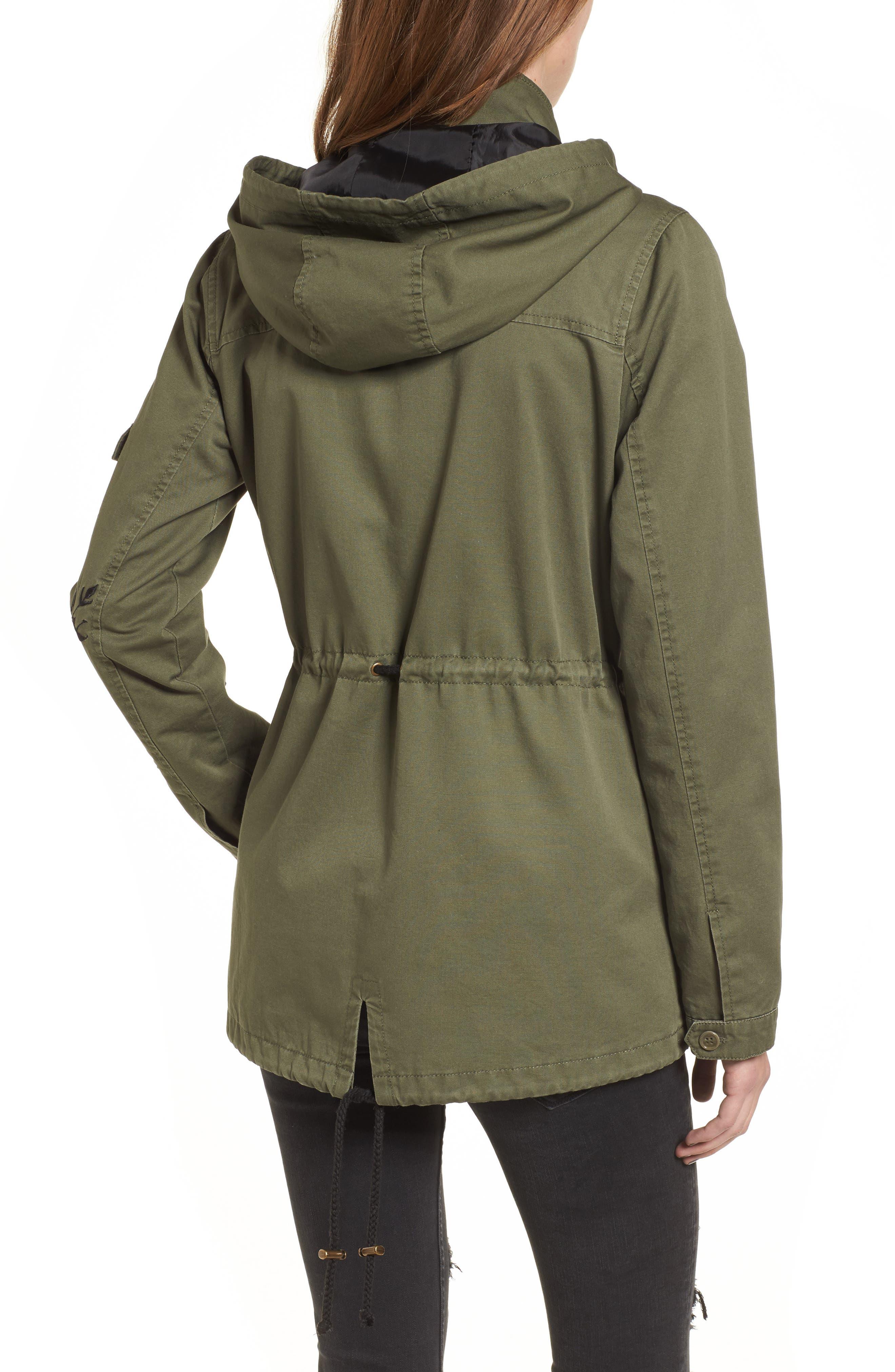 Embroidered Jacket,                             Alternate thumbnail 3, color,                             Olive