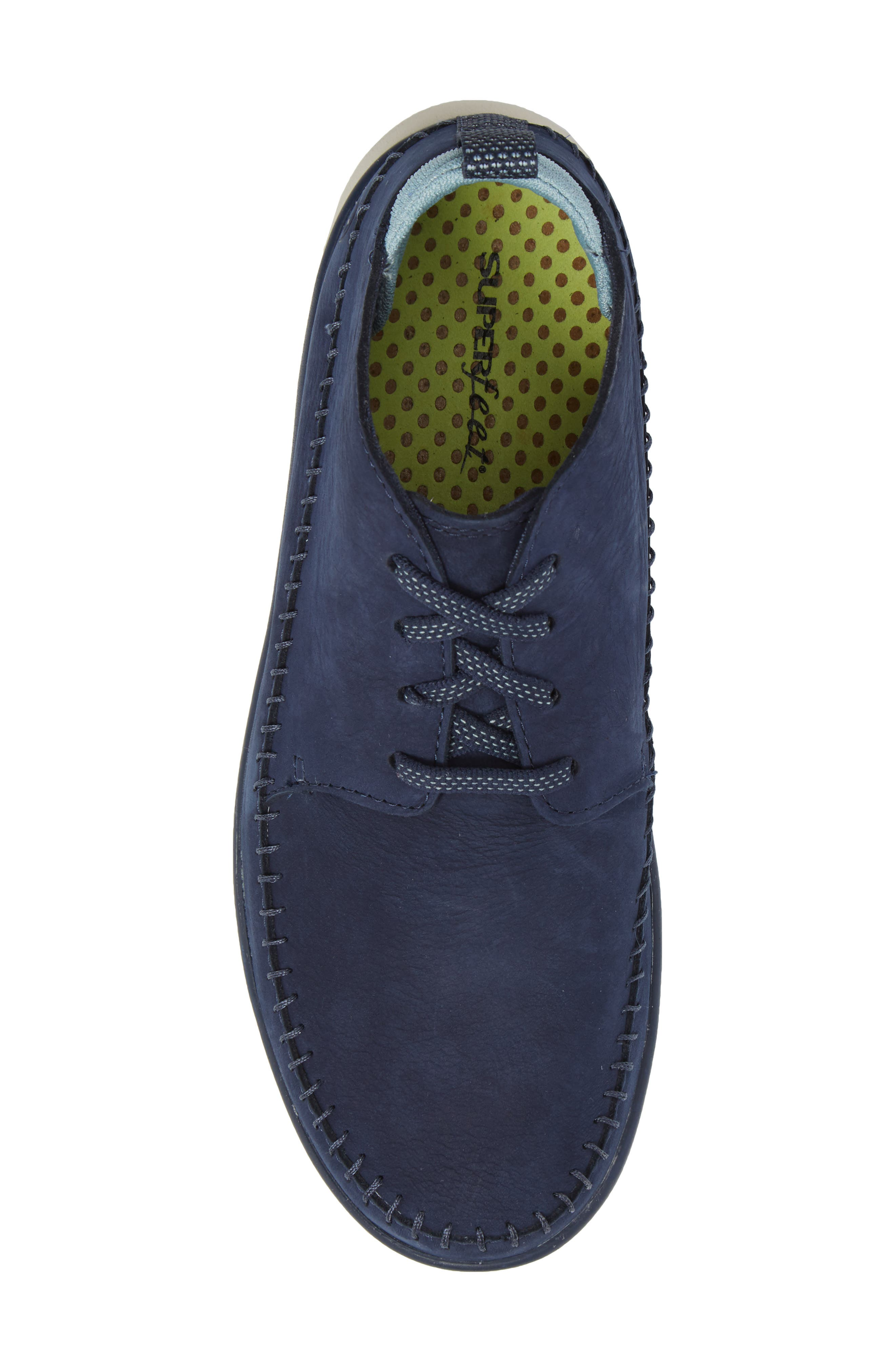 Olympia Lace-Up Sneaker,                             Alternate thumbnail 5, color,                             Blue Nubuck