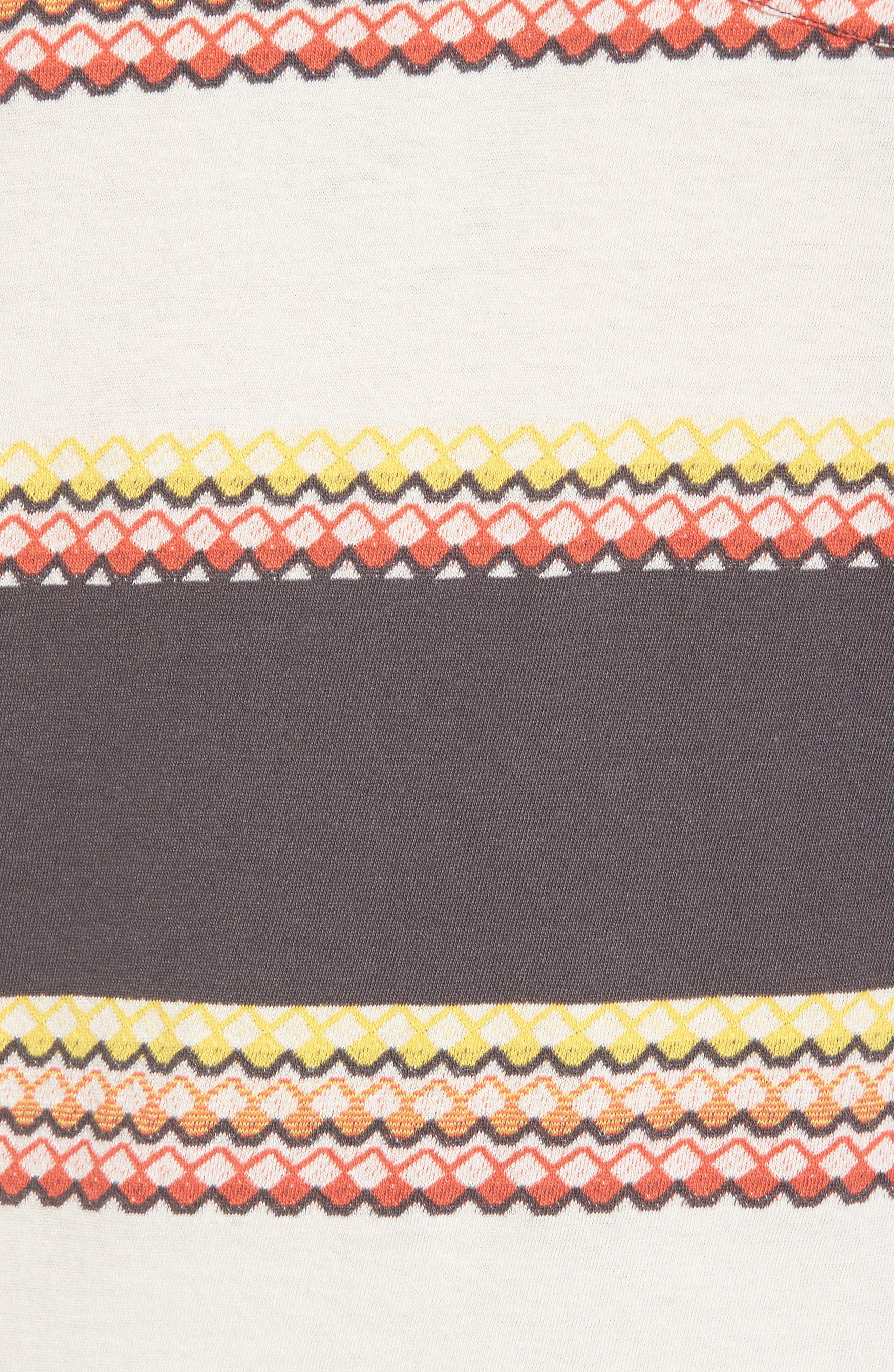 1950s Sportswear Pocket T-Shirt,                             Alternate thumbnail 5, color,                             Wave Jacquard Blue Multi