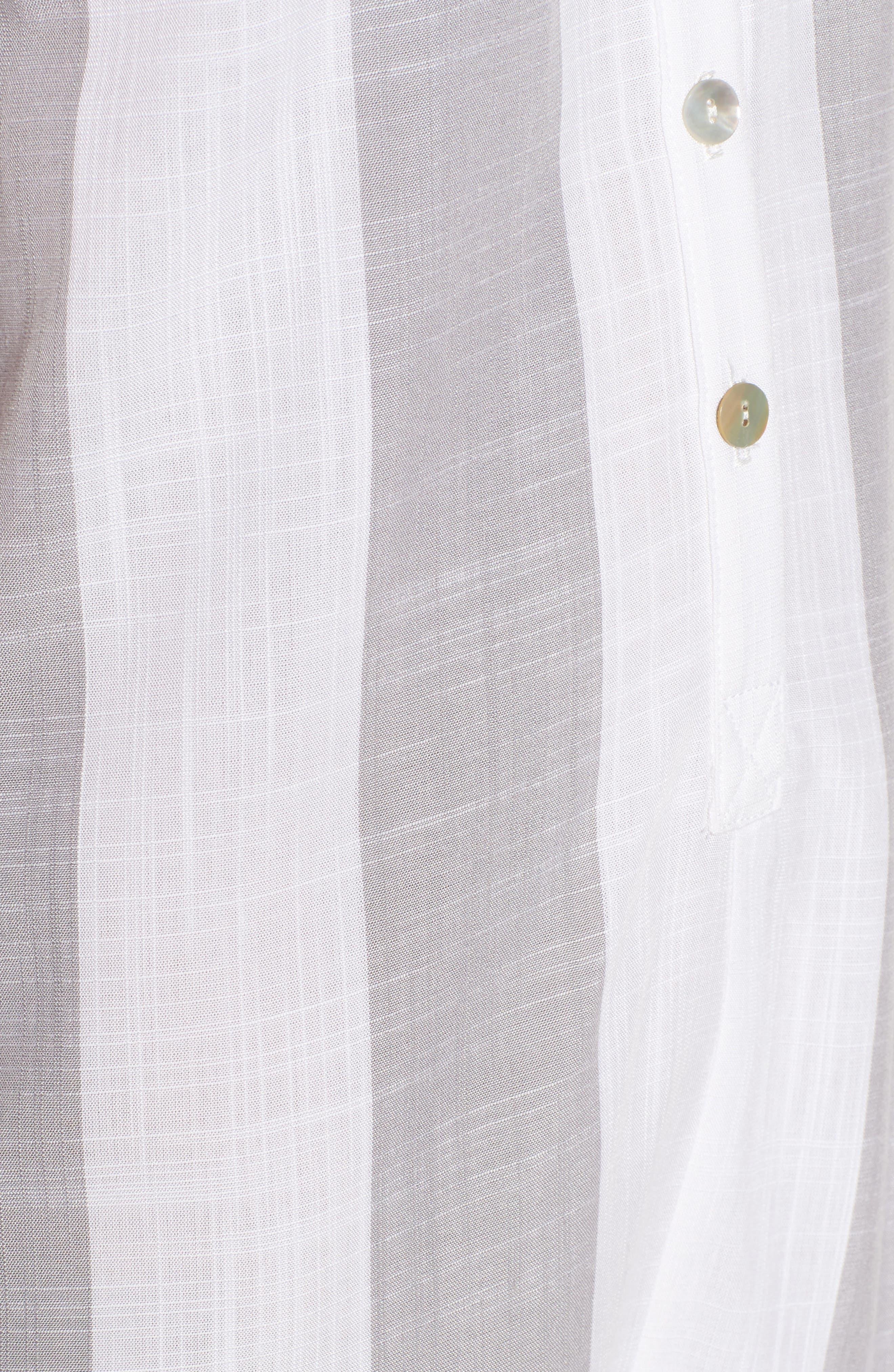 Ellie Romper,                             Alternate thumbnail 5, color,                             Grey Bengal Stripe