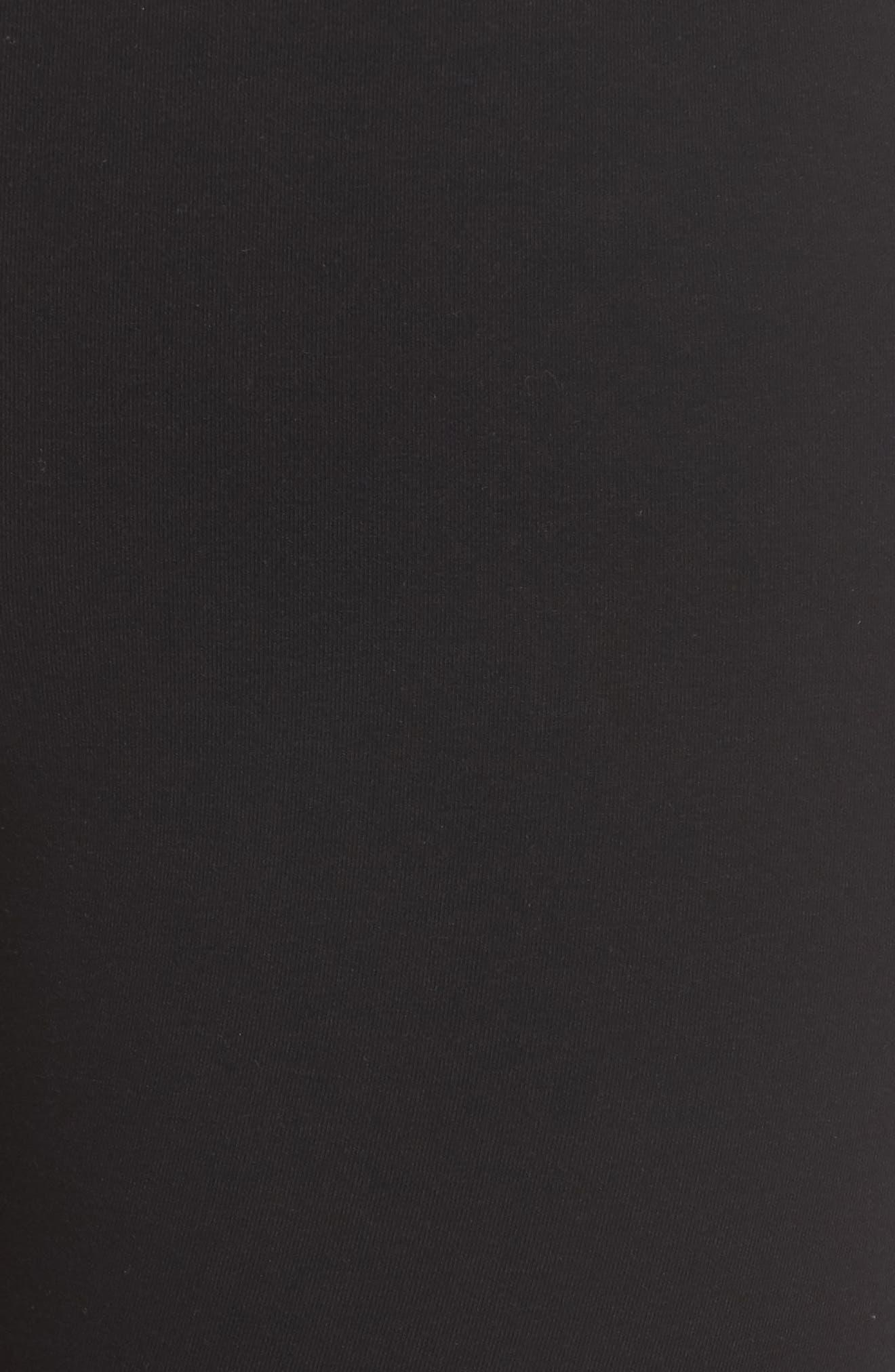 Eyelet Skimmer Leggings,                             Alternate thumbnail 5, color,                             Black