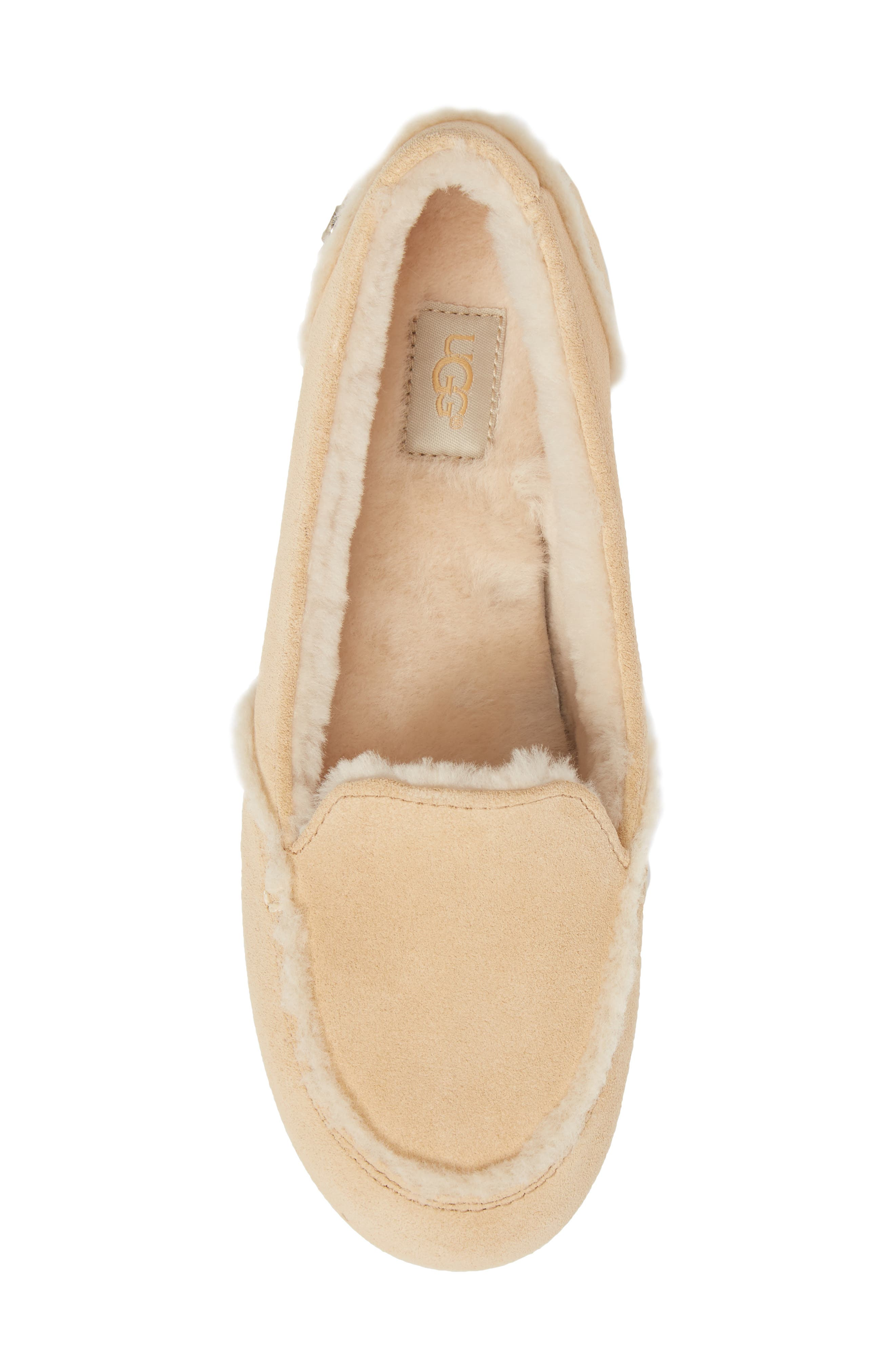 Hailey Slipper,                             Alternate thumbnail 5, color,                             Beige Suede