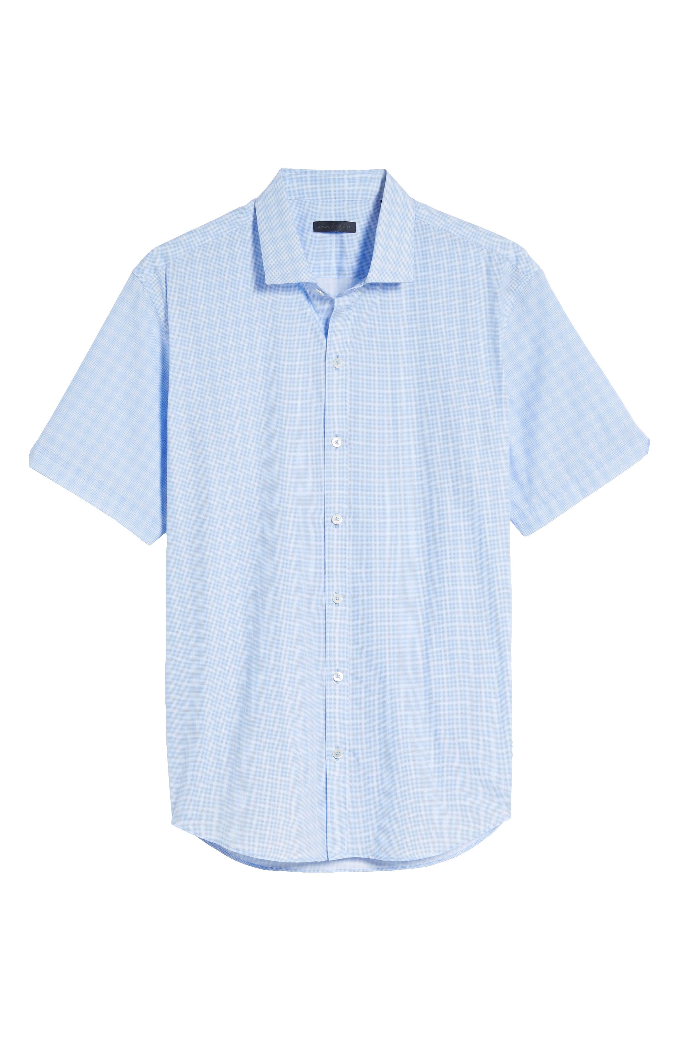 Cecil Check Print Sport Shirt,                             Alternate thumbnail 6, color,                             Lt Blue