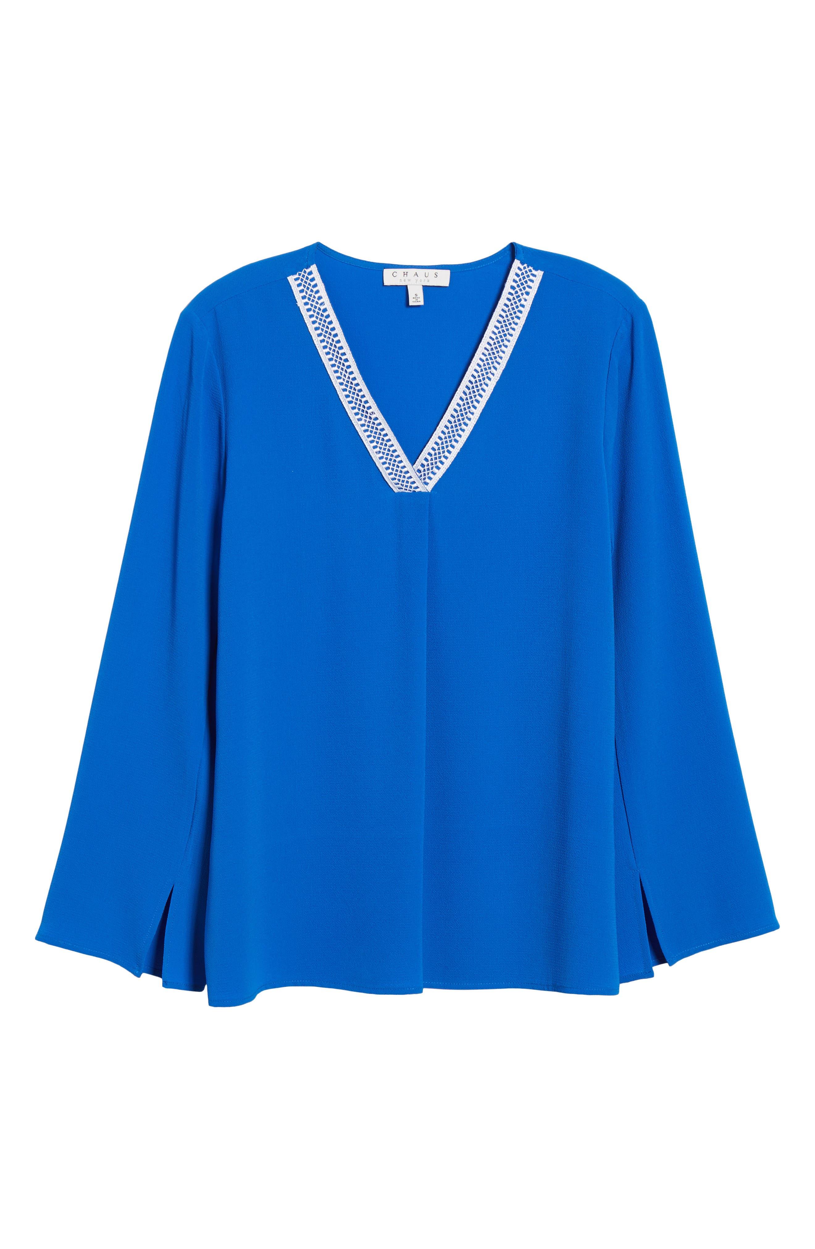 Alternate Image 6  - Chaus Slit Sleeve Blouse