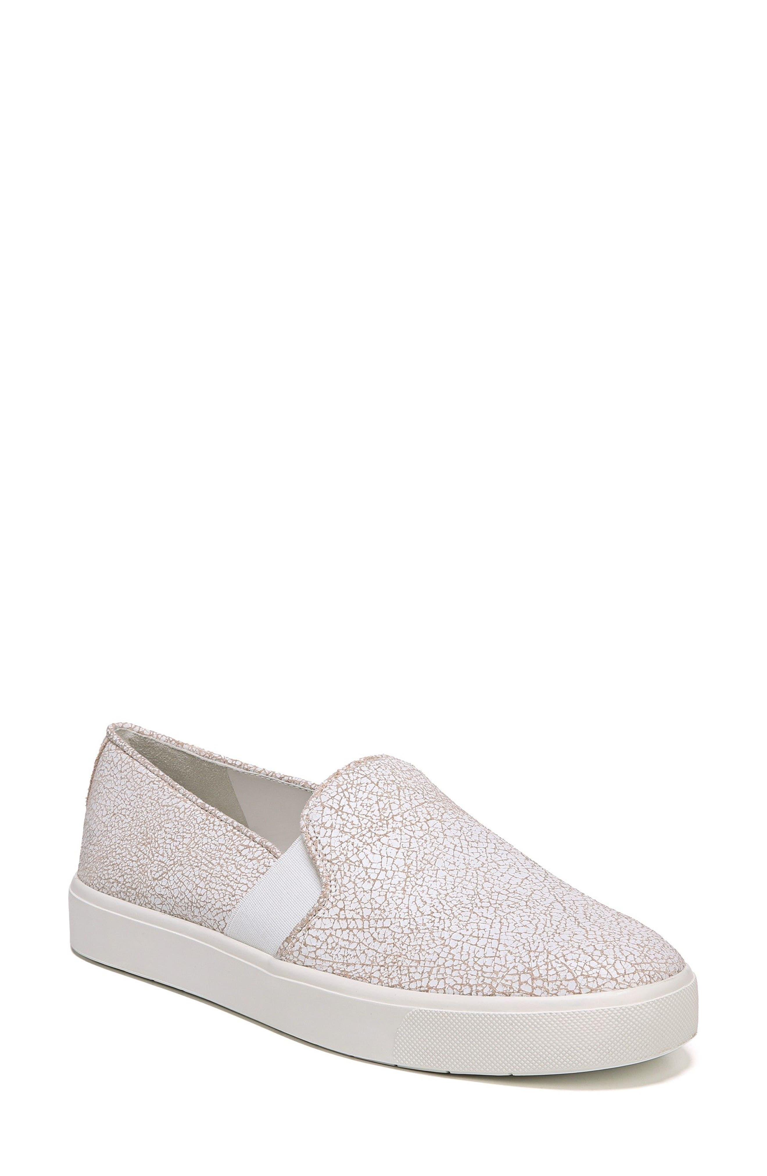 'Blair 12' Leather Slip-On Sneaker,                         Main,                         color, White