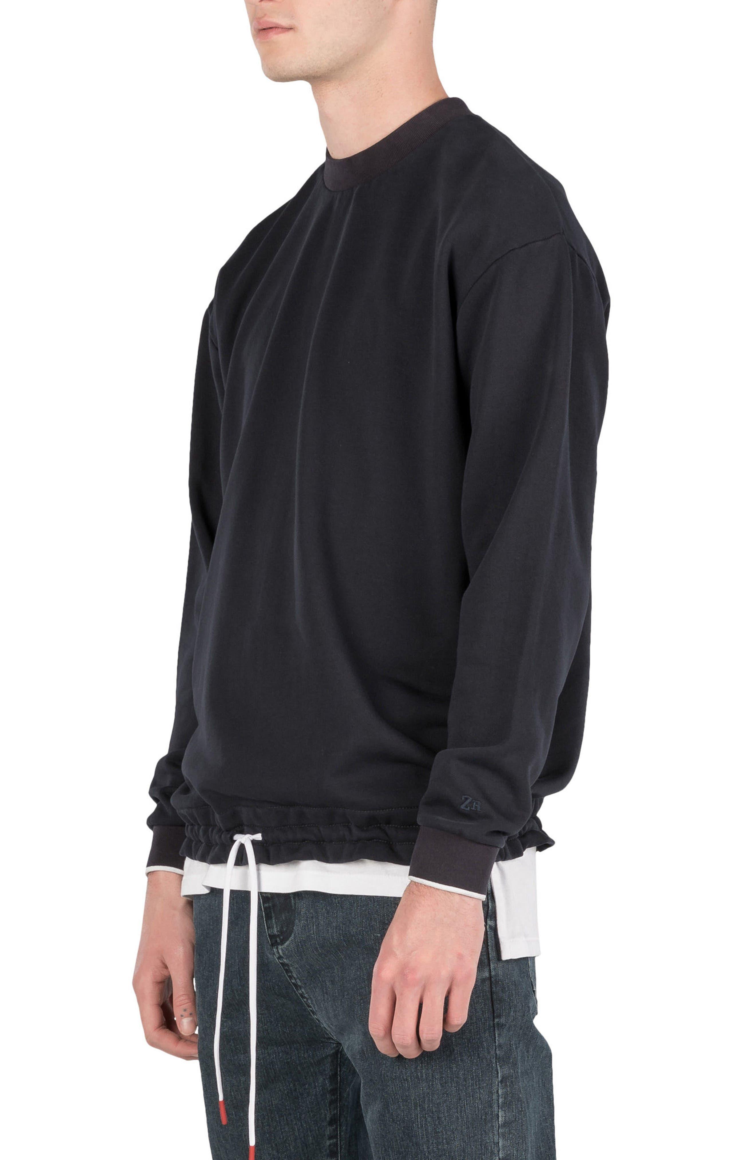 Box Sweatshirt,                             Alternate thumbnail 4, color,                             Navy